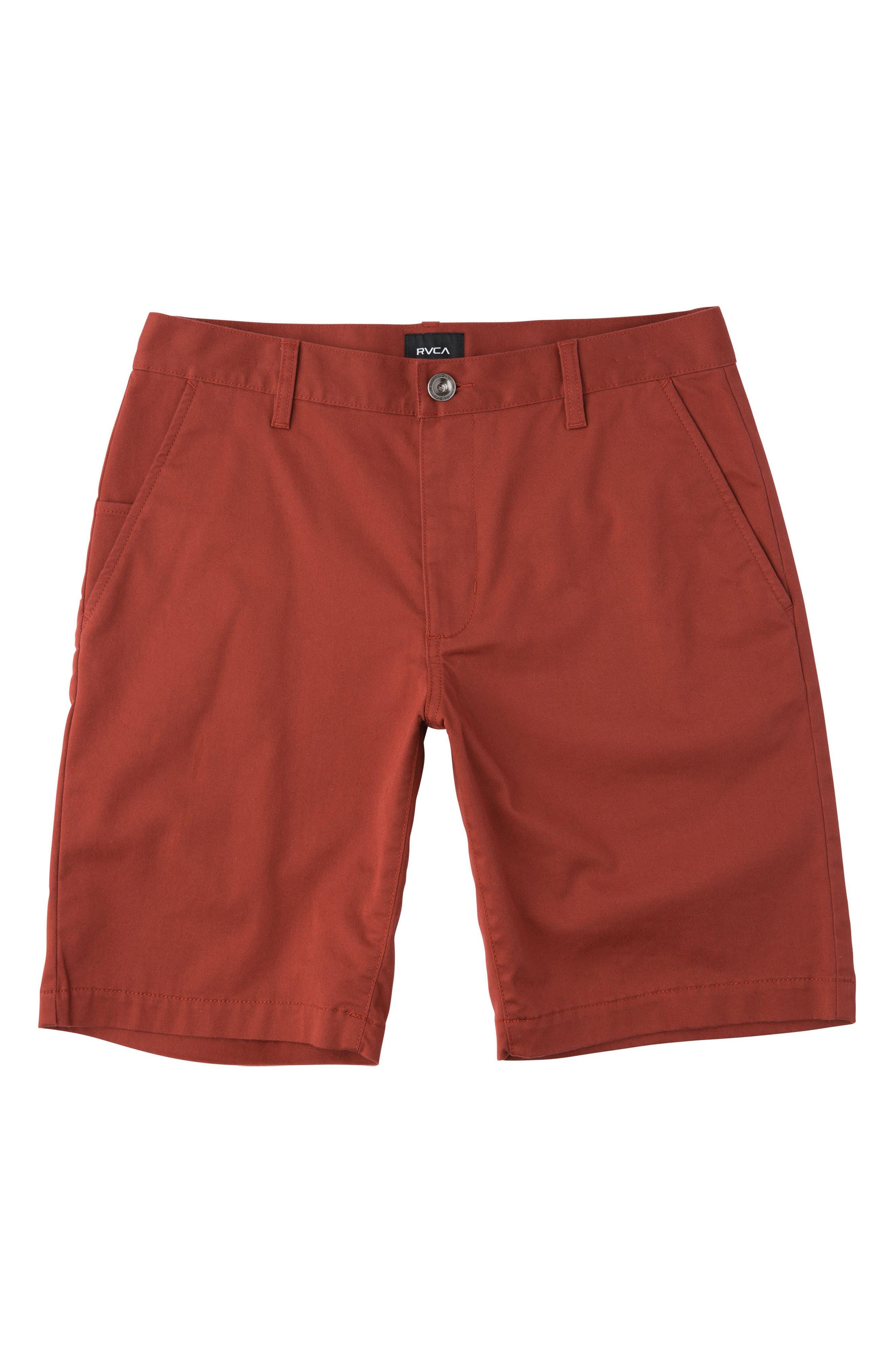 'Weekday' Shorts,                         Main,                         color, ROSEWOOD