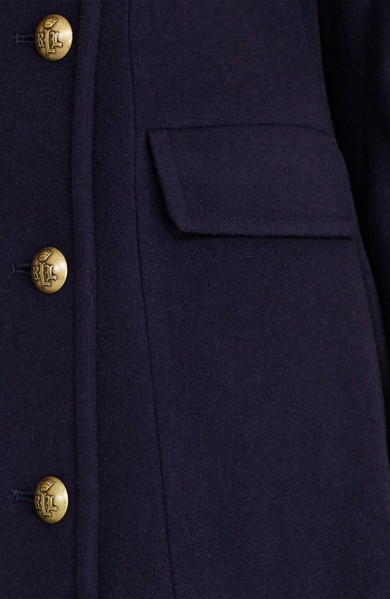 Double Breasted Military Maxi Coat,                             Alternate thumbnail 3, color,                             415