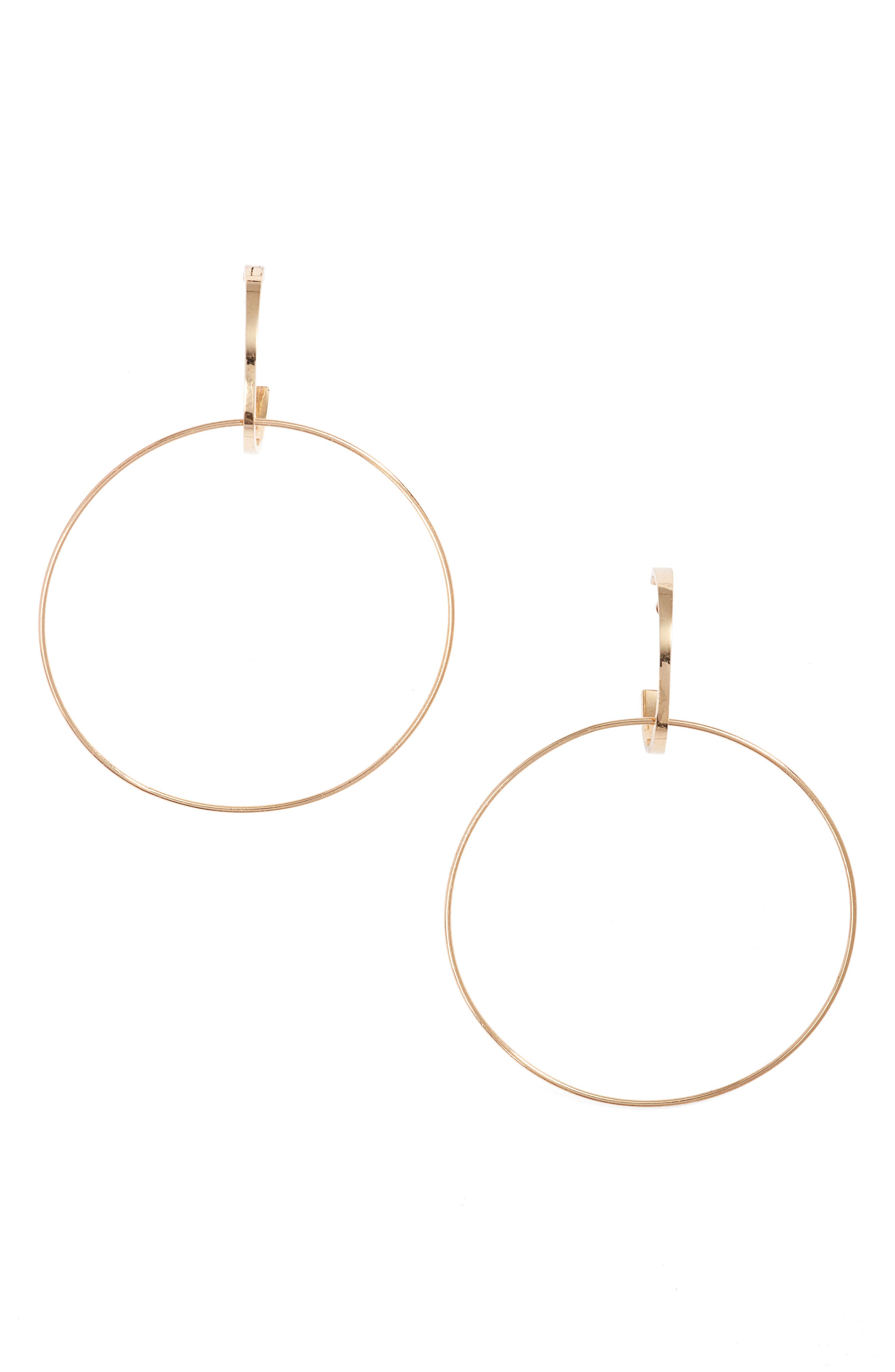 Bond Small Double Hoop Earrings,                         Main,                         color, 710