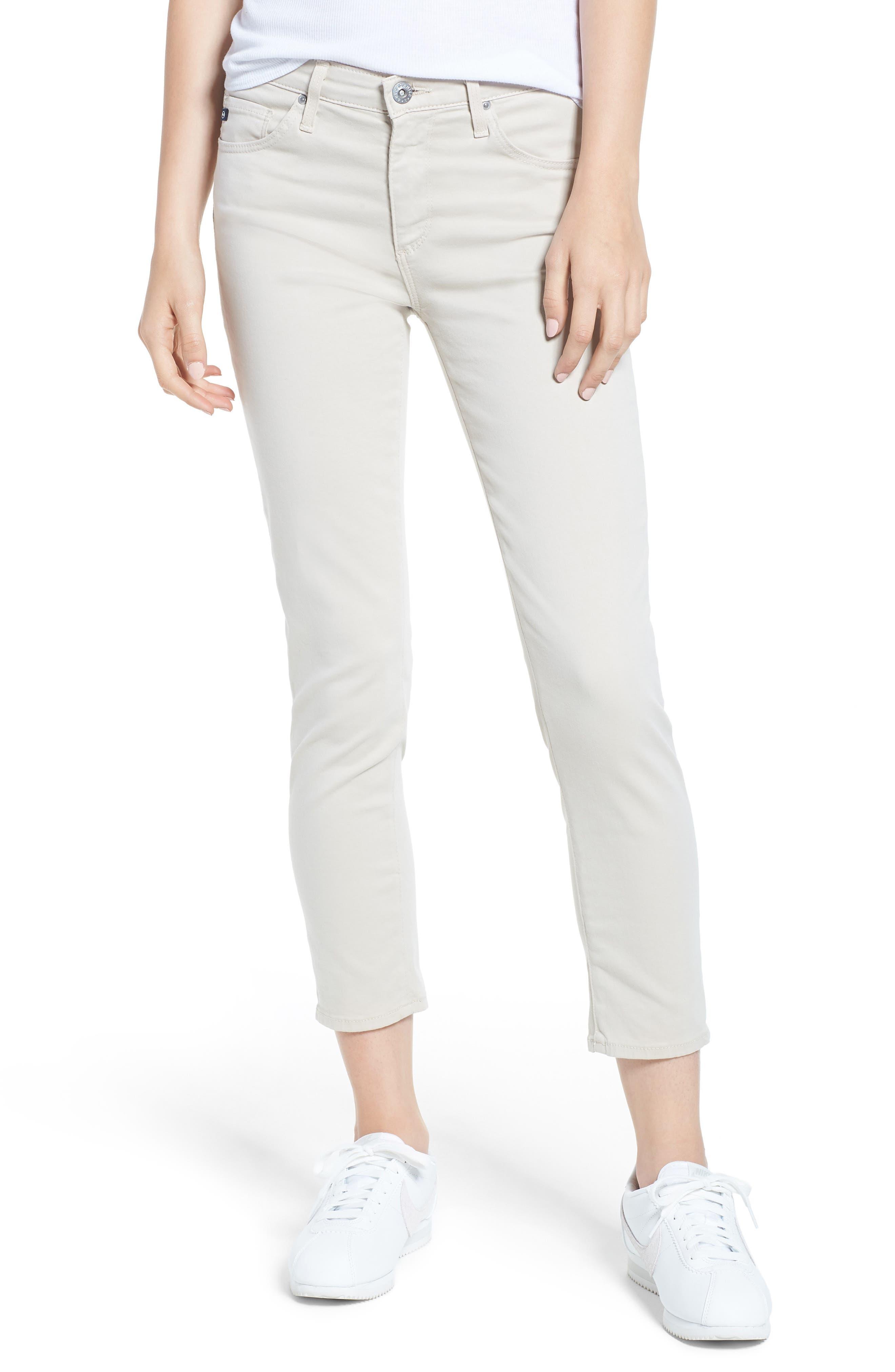 The Prima Crop Cigarette Jeans,                         Main,                         color, MINERAL VEIL