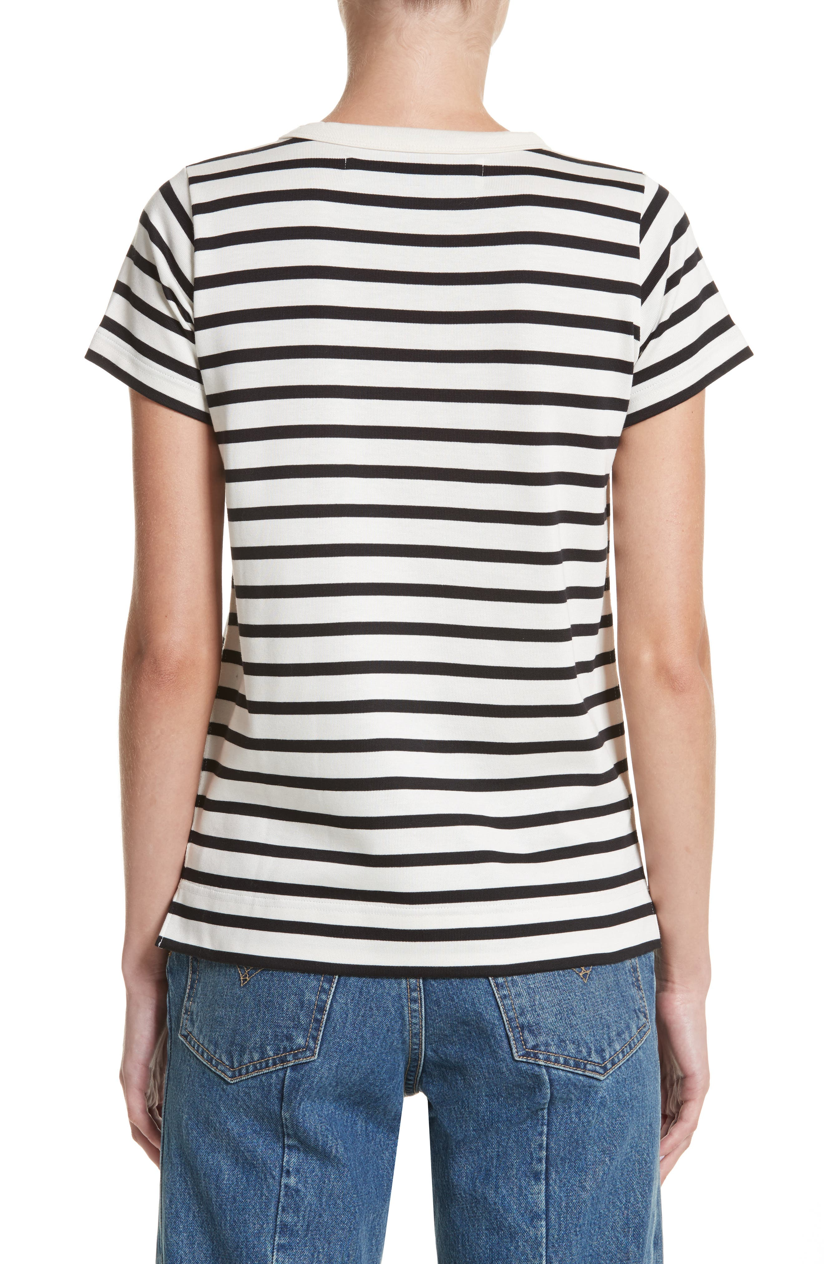 Grosgrain Bow Stripe Tee,                             Alternate thumbnail 2, color,                             900