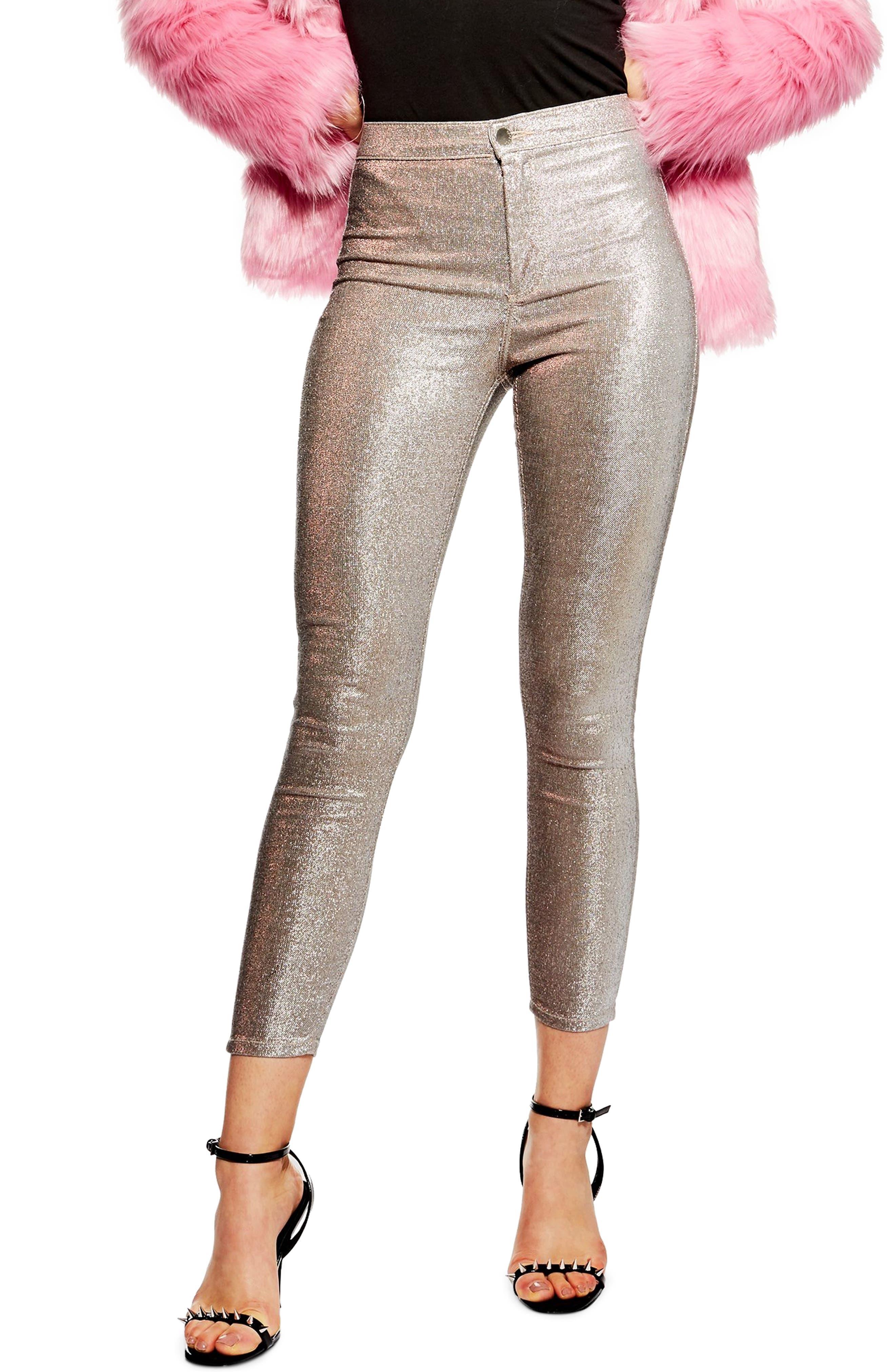Lurex Joni Jeans,                         Main,                         color, PINK