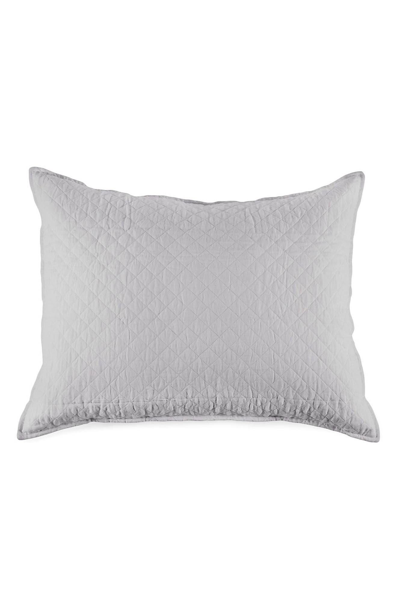 Hampton Big Accent Pillow,                         Main,                         color, SILVER