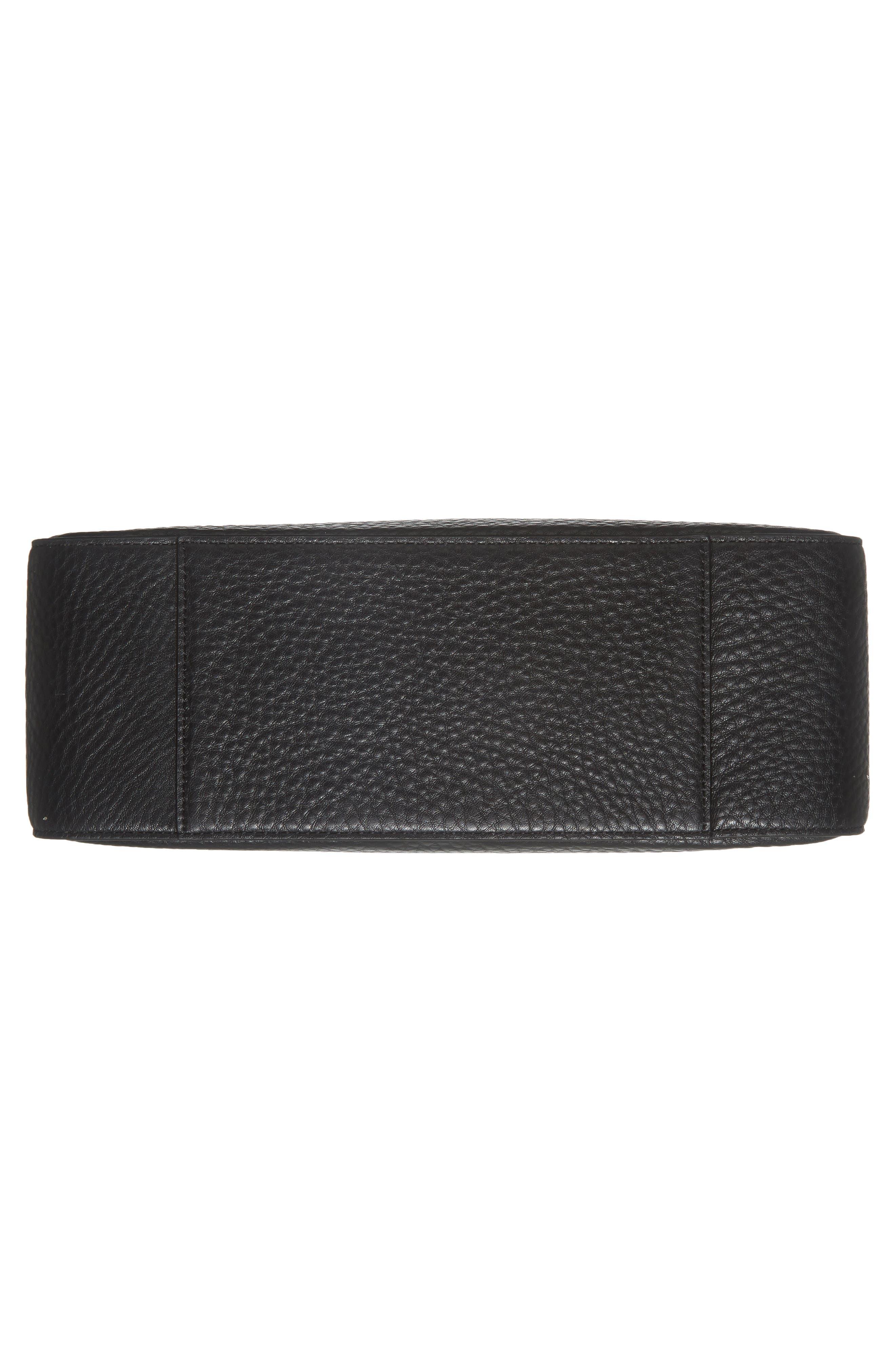 stewart street lynea leather satchel,                             Alternate thumbnail 6, color,                             001