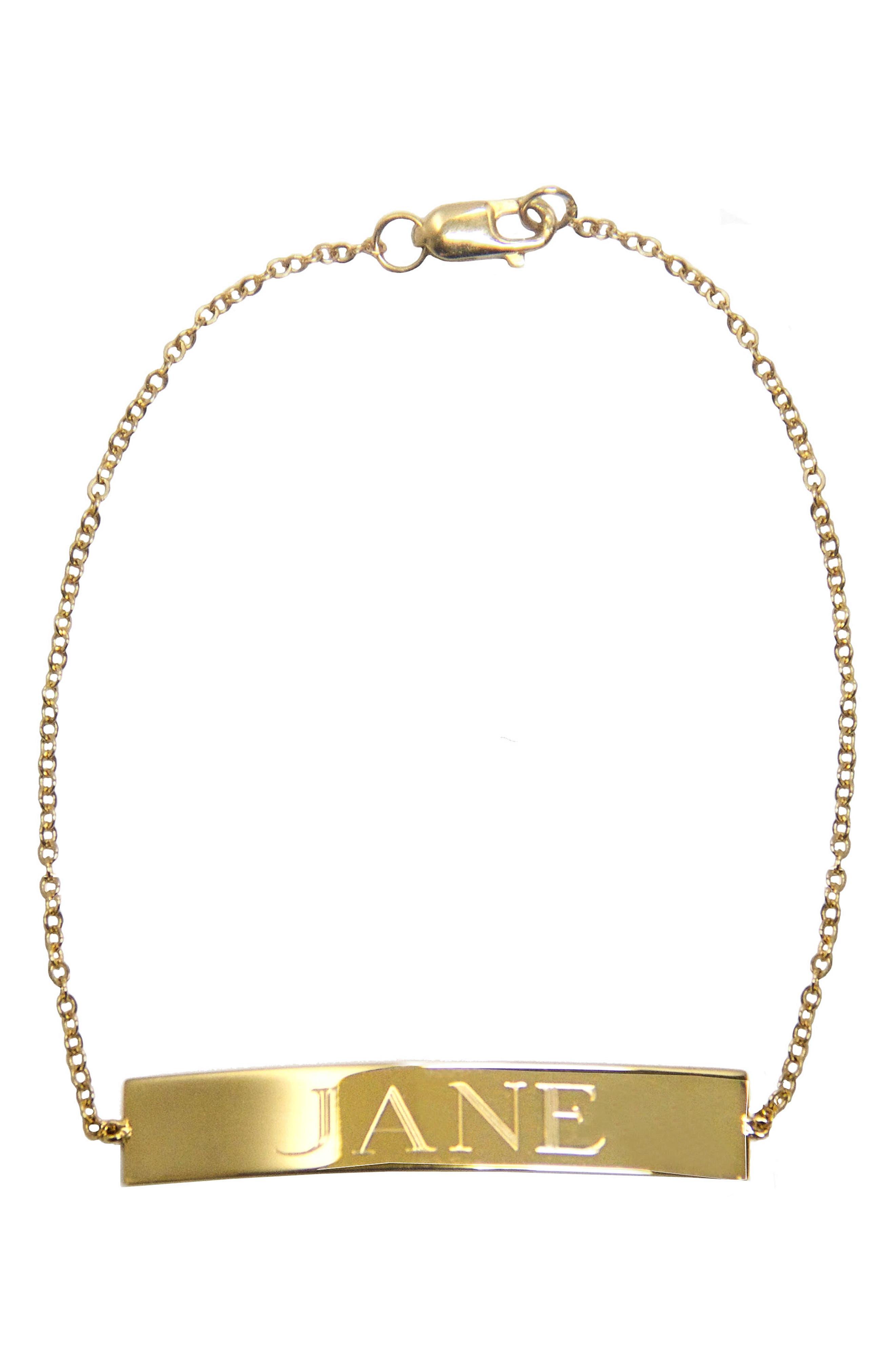 Jane Basch Personalized ID Bracelet,                         Main,                         color, 710