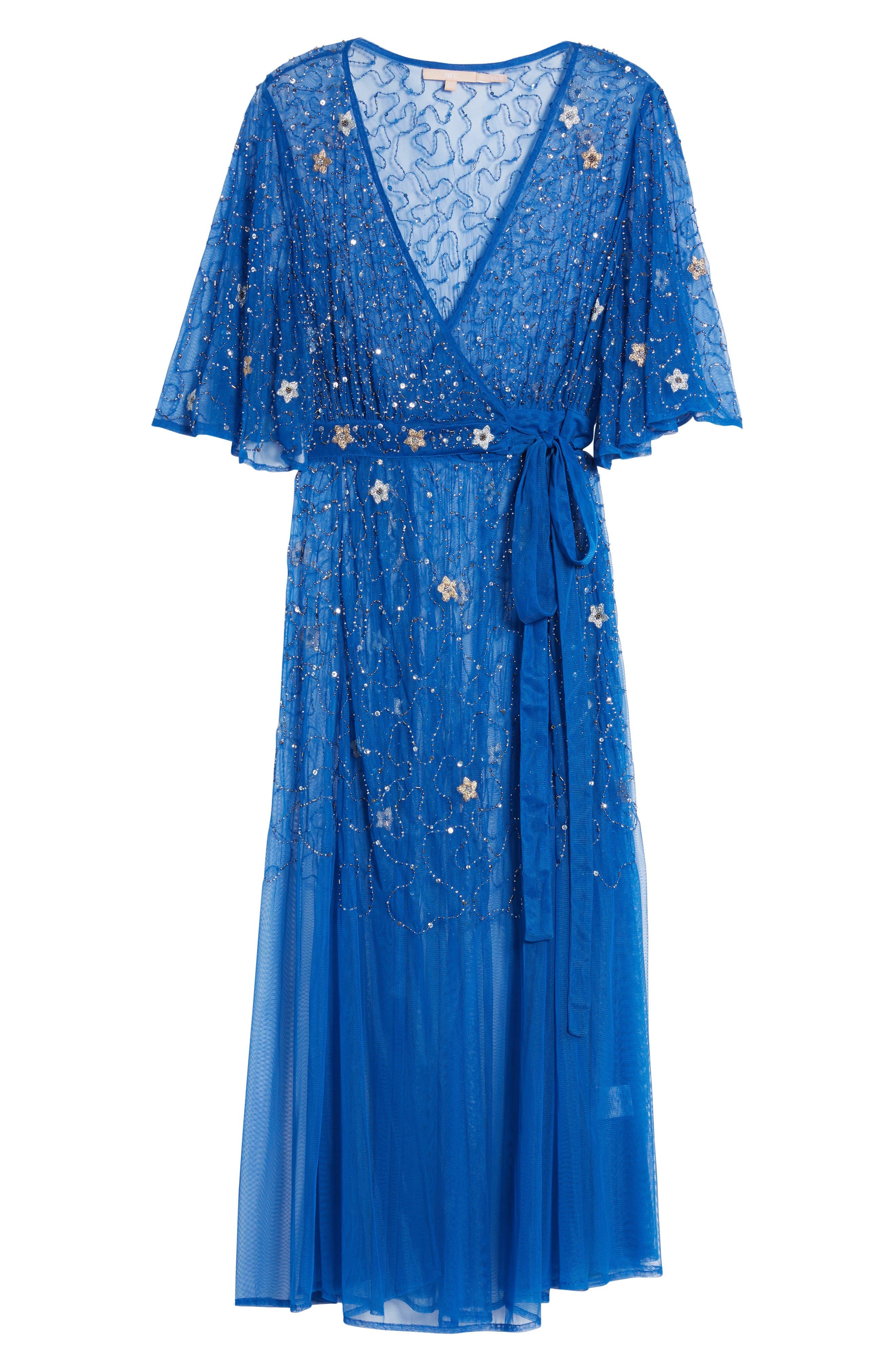 Stargazer Kimono,                             Alternate thumbnail 6, color,                             LAPIZ BLUE