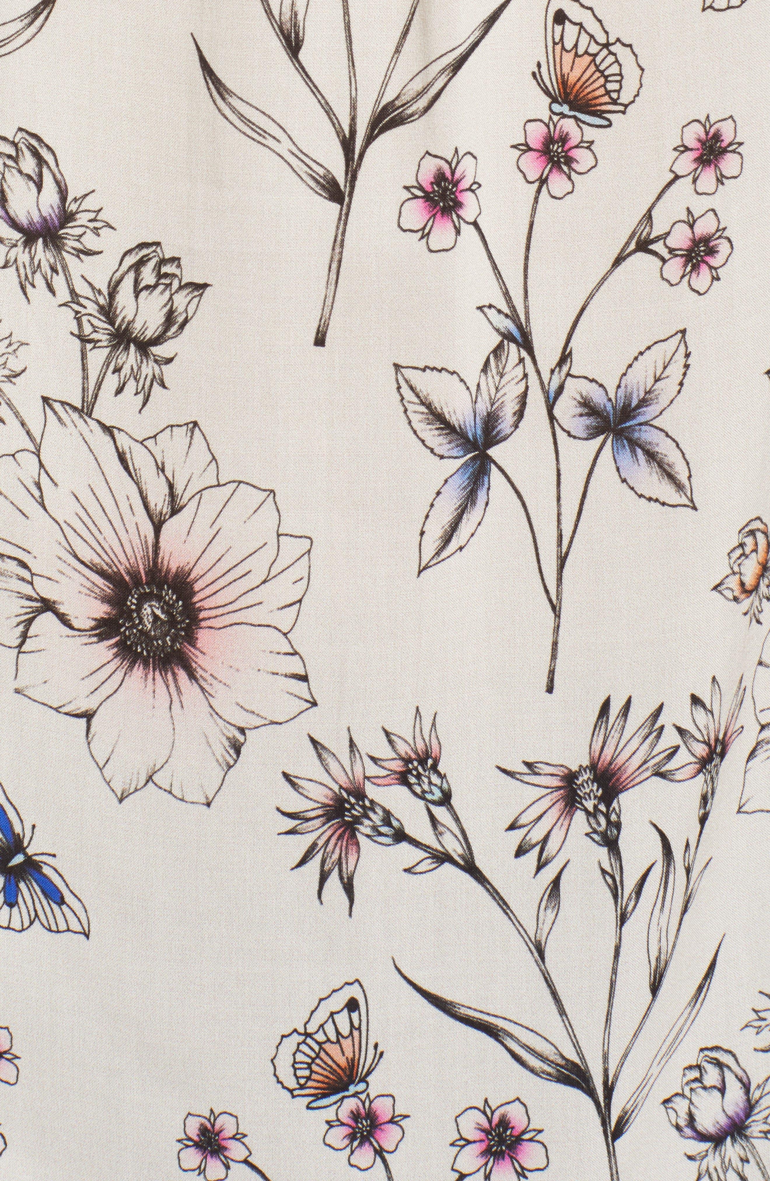 Floral Print Sleeveless Blouse,                             Alternate thumbnail 6, color,                             900