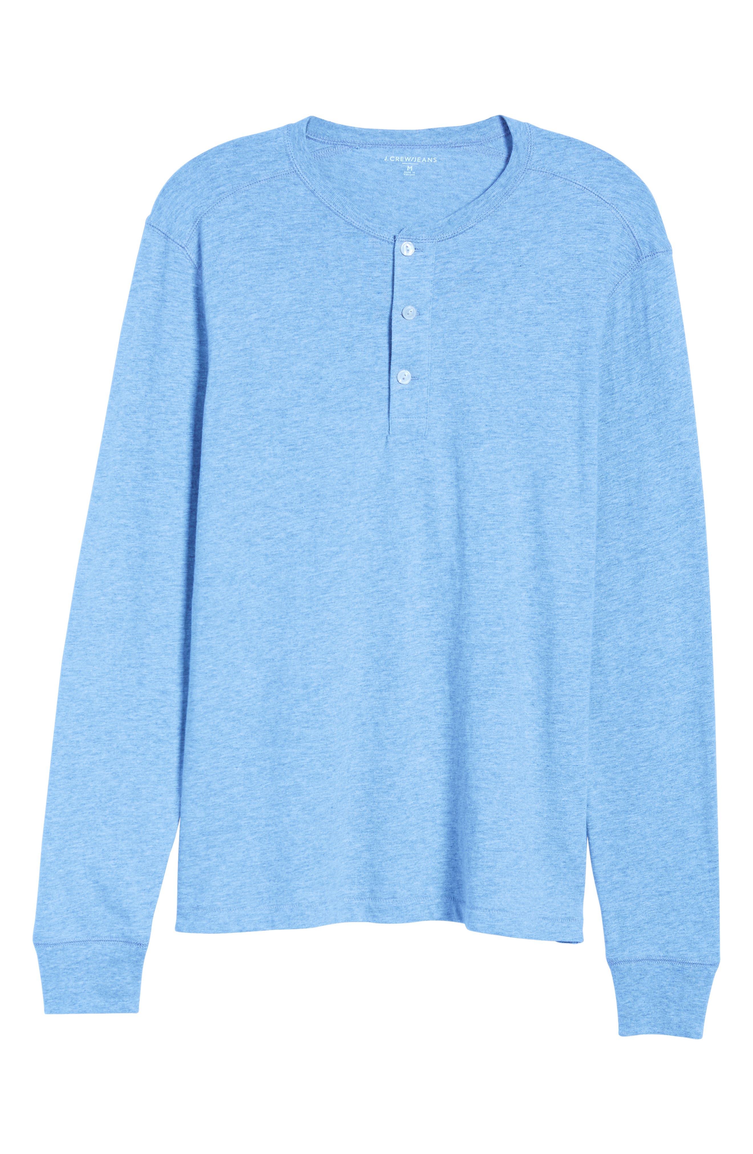 Slim Fit Garment Dyed Slub Cotton Henley,                             Alternate thumbnail 6, color,                             020