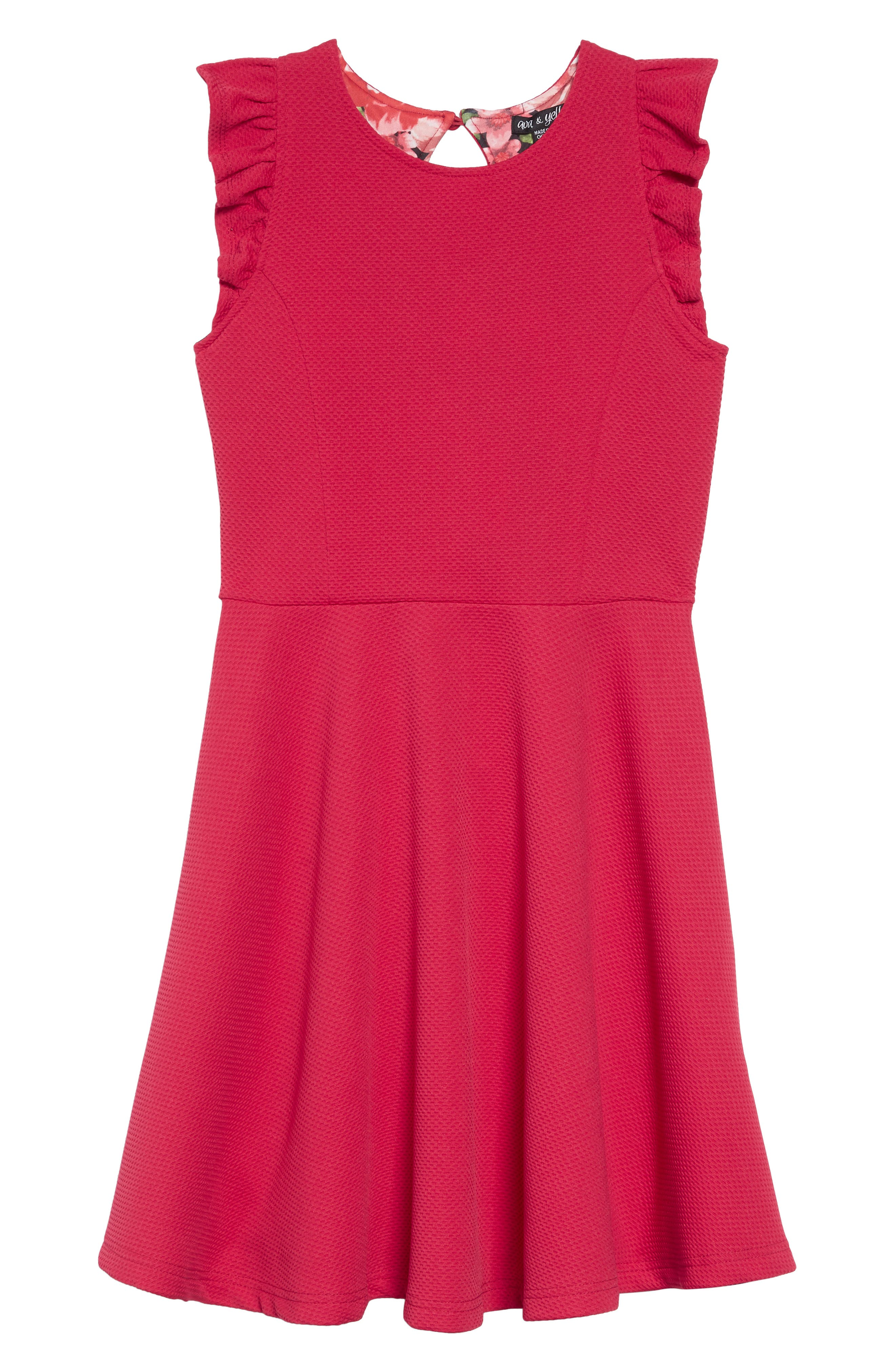 Textured with Print Lining Dress,                             Main thumbnail 1, color,                             610