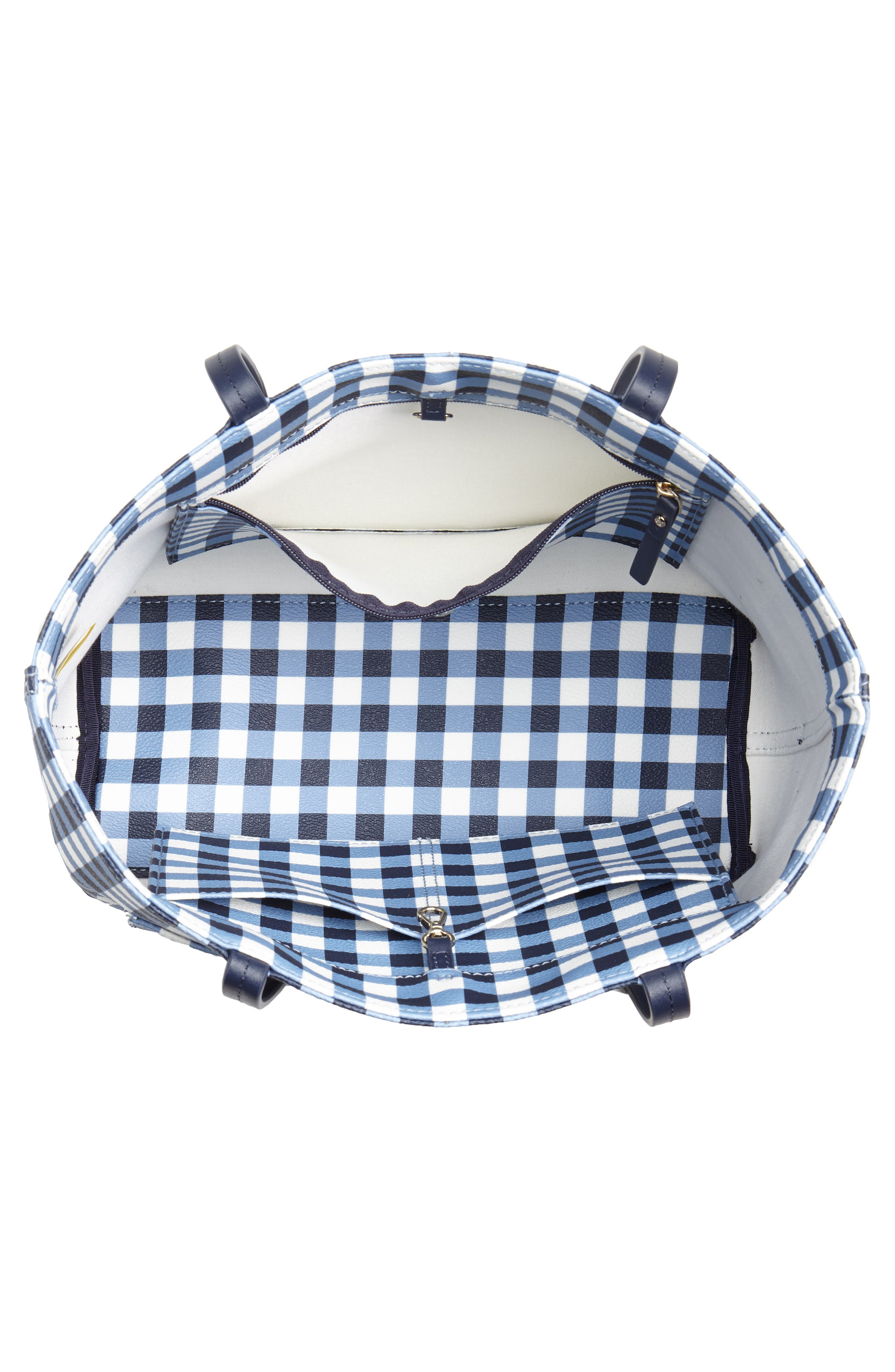 hyde lane gingham - small riley tote,                             Alternate thumbnail 4, color,                             400