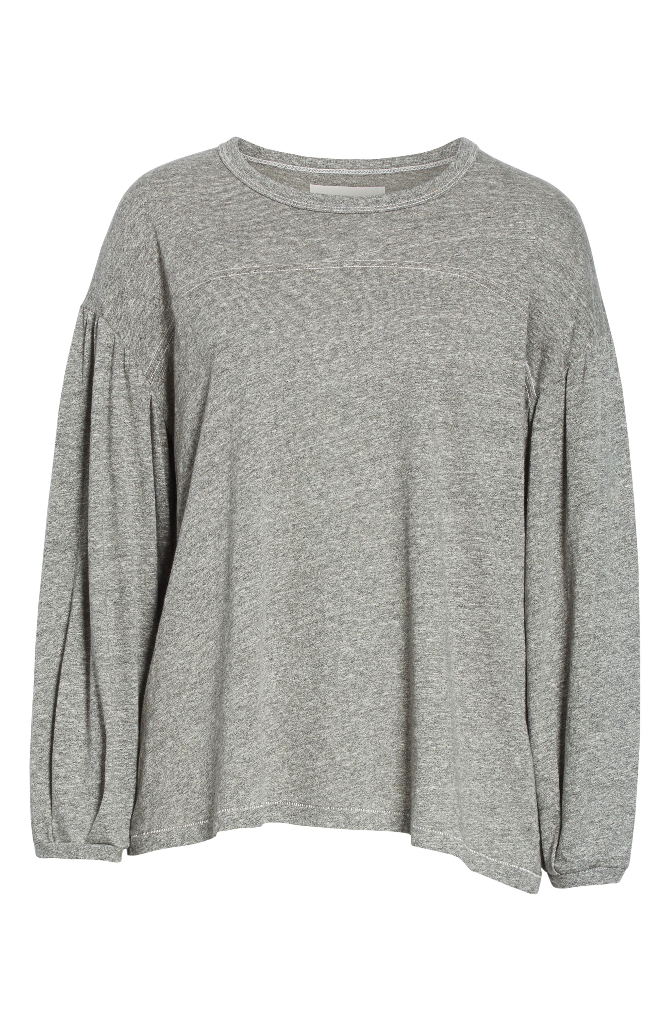 The Curve Tee,                             Alternate thumbnail 6, color,                             HEATHER GREY