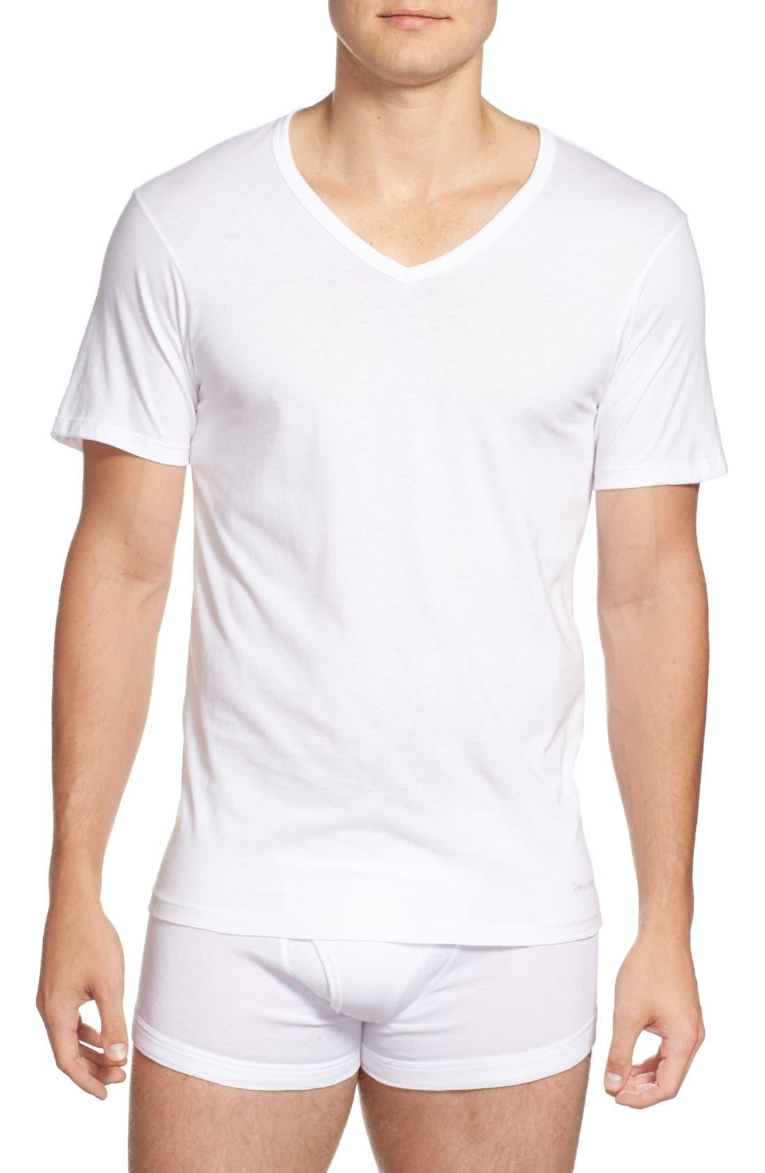 Slim Fit 3-Pack Cotton T-Shirt,                             Alternate thumbnail 2, color,                             100