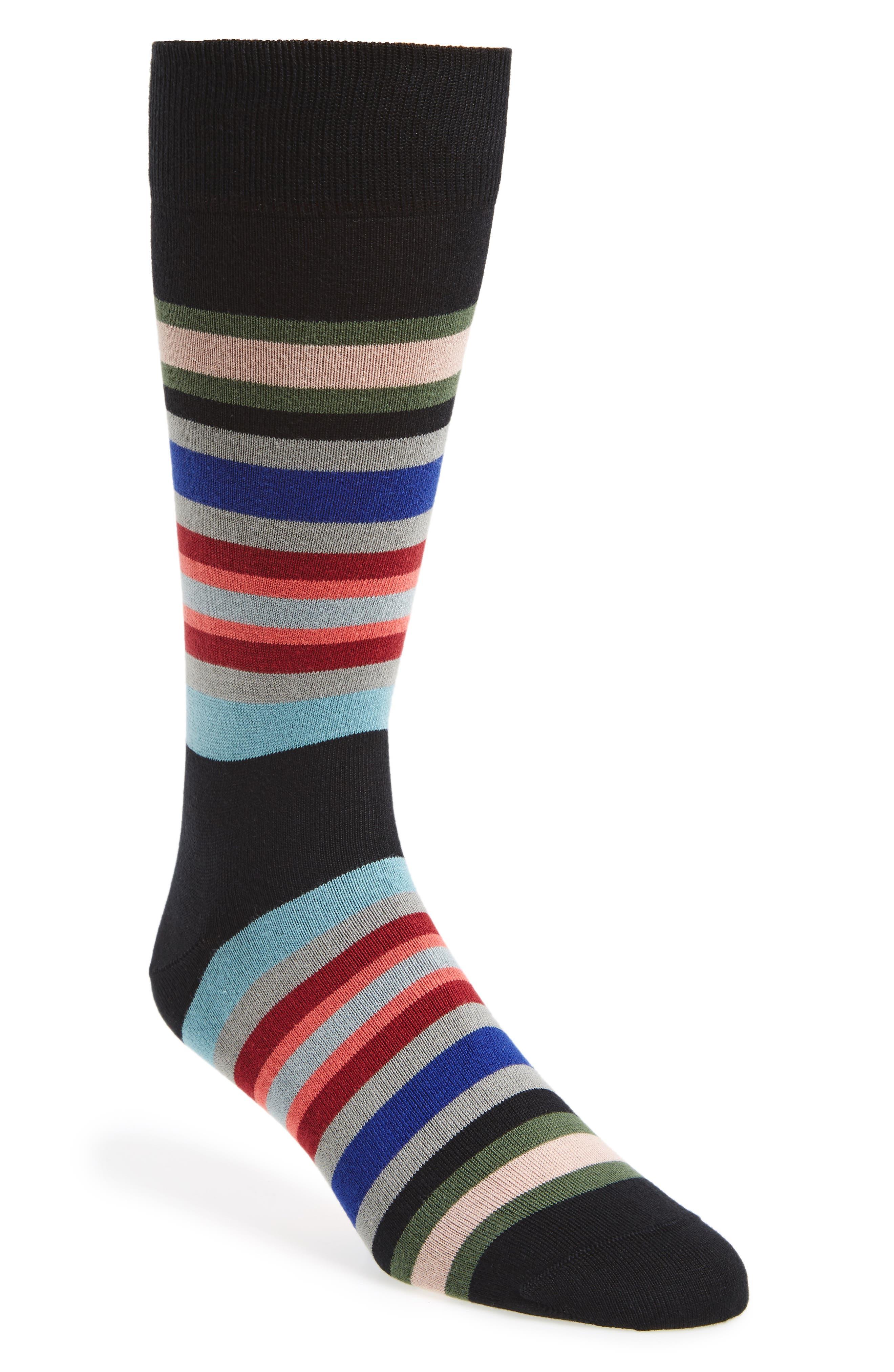 Kew Stripe Socks,                         Main,                         color, 001