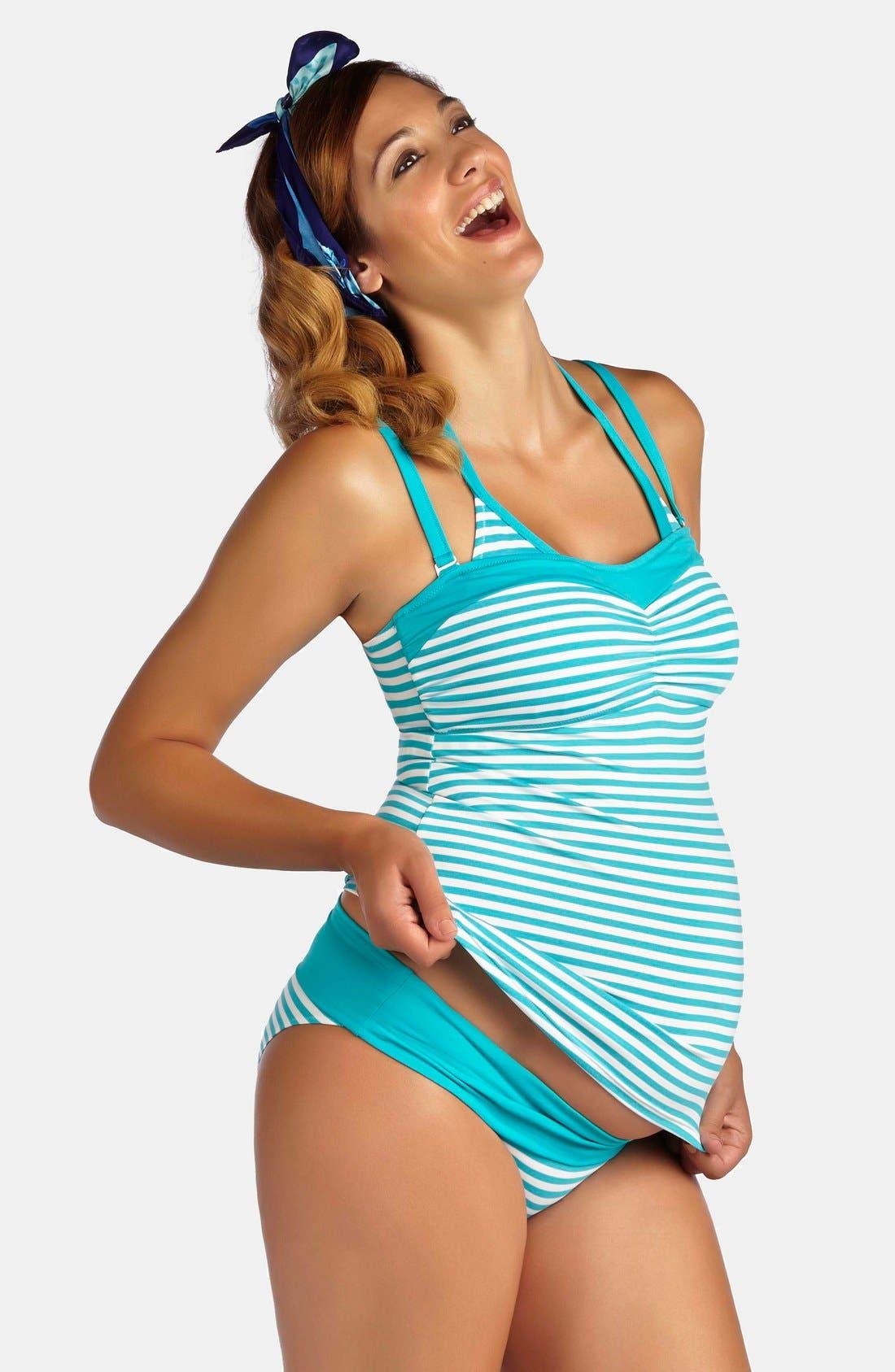 'La Mer' Three-Piece Maternity Swimsuit Set,                             Main thumbnail 1, color,