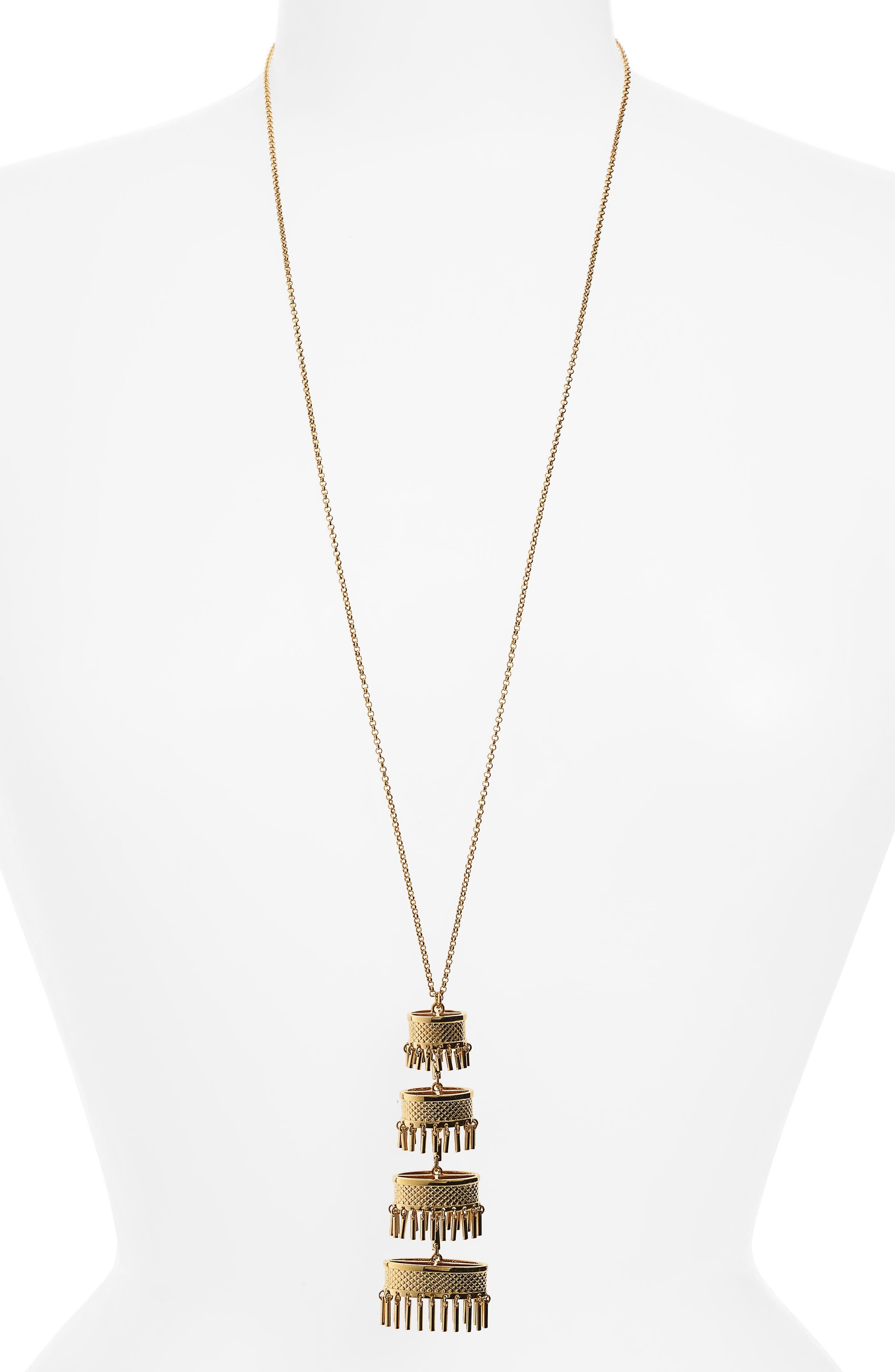 Pagoda Pendant,                             Main thumbnail 1, color,                             GOLD