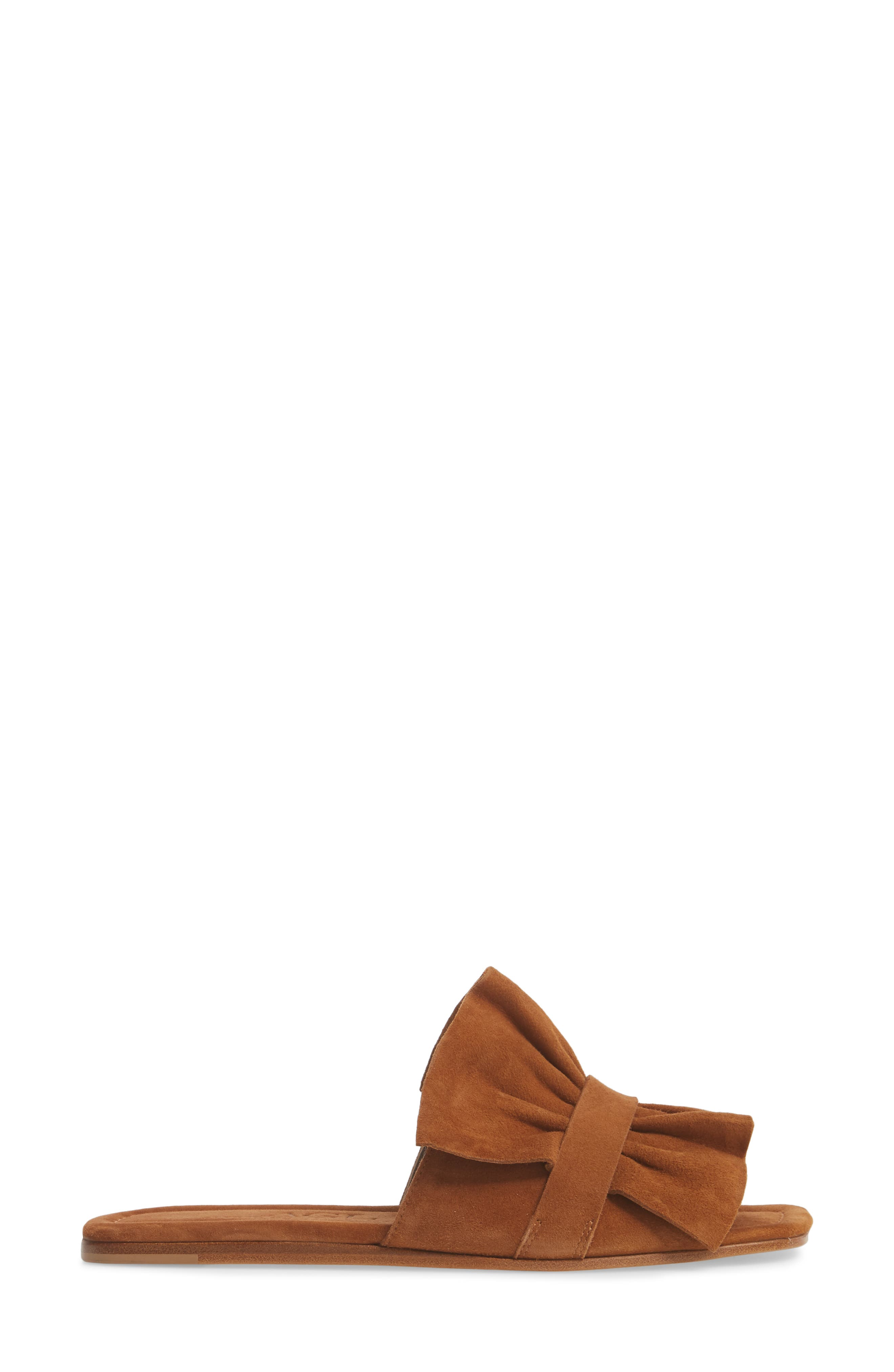 Ruched Slide Sandal,                             Alternate thumbnail 3, color,                             245