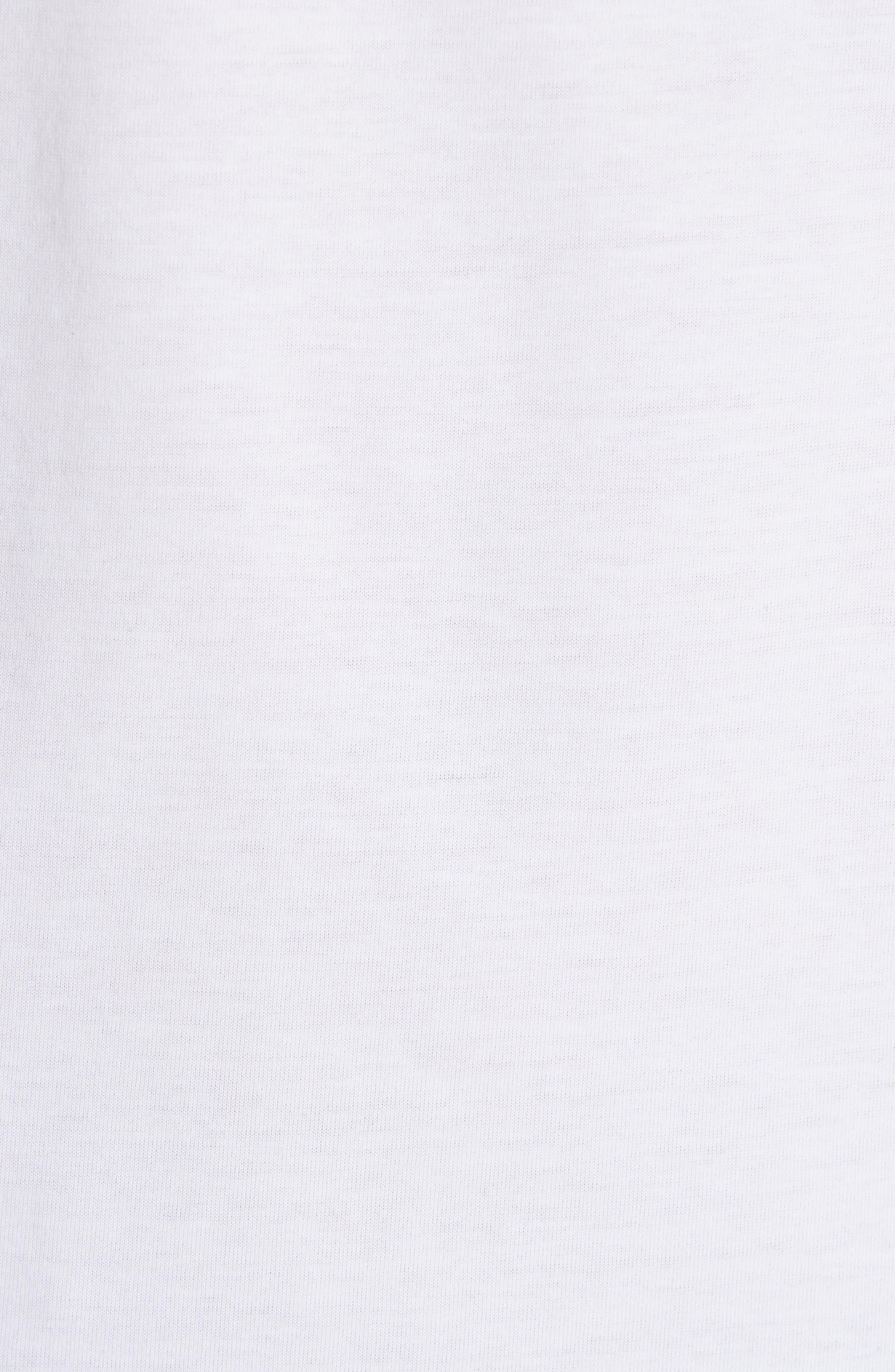 Racer Logo T-Shirt,                             Alternate thumbnail 5, color,                             WHITE