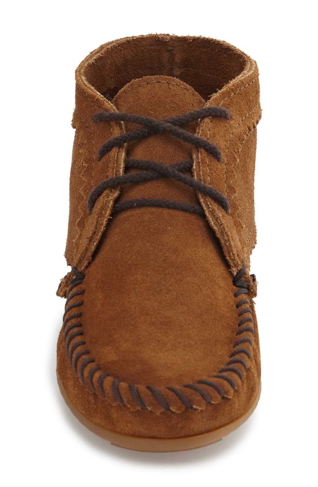 Chukka Moccasin Boot,                             Alternate thumbnail 3, color,                             DUSTY BROWN