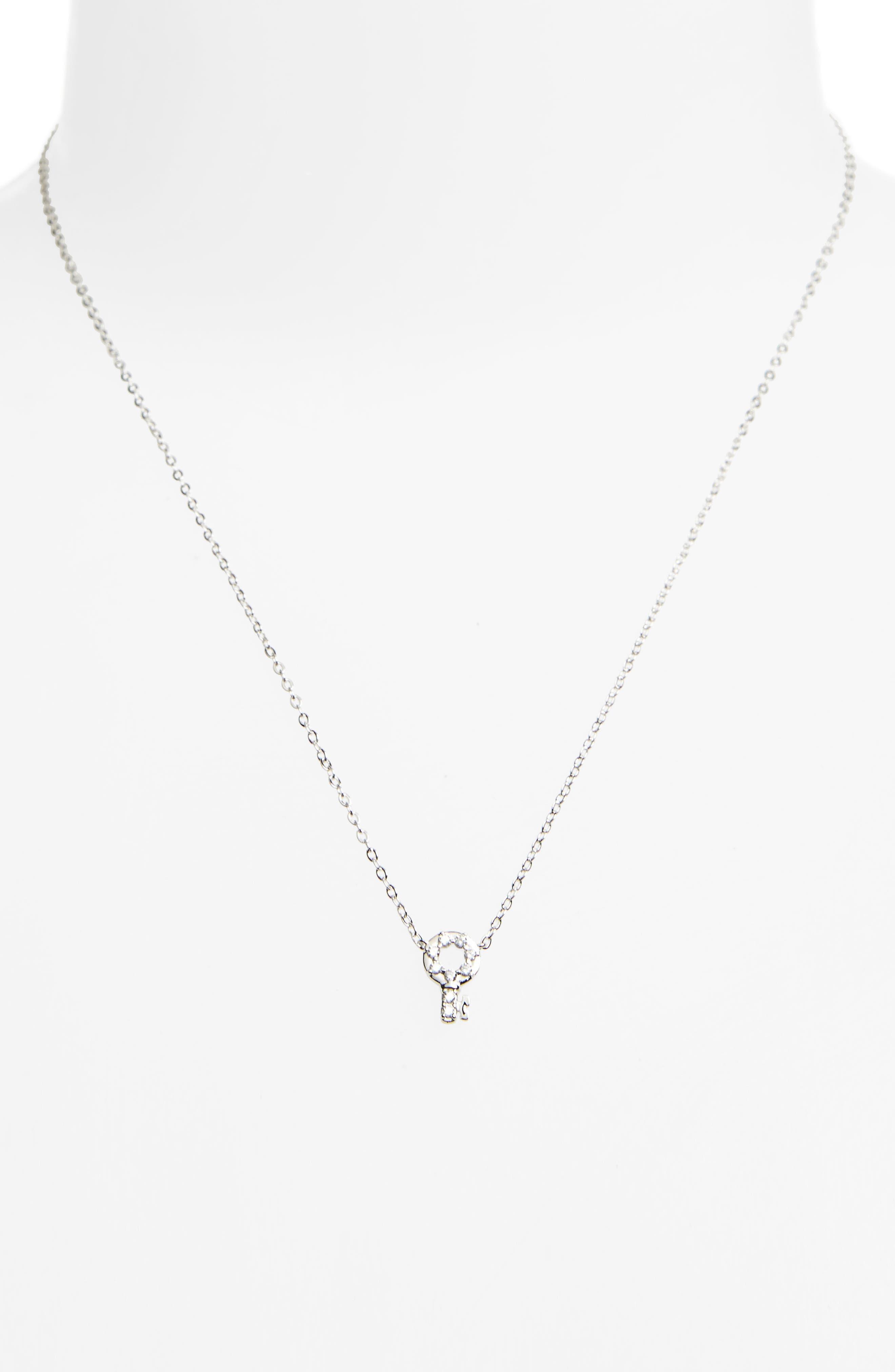 Reminisce Crystal Key Pendant Necklace,                             Alternate thumbnail 2, color,                             040