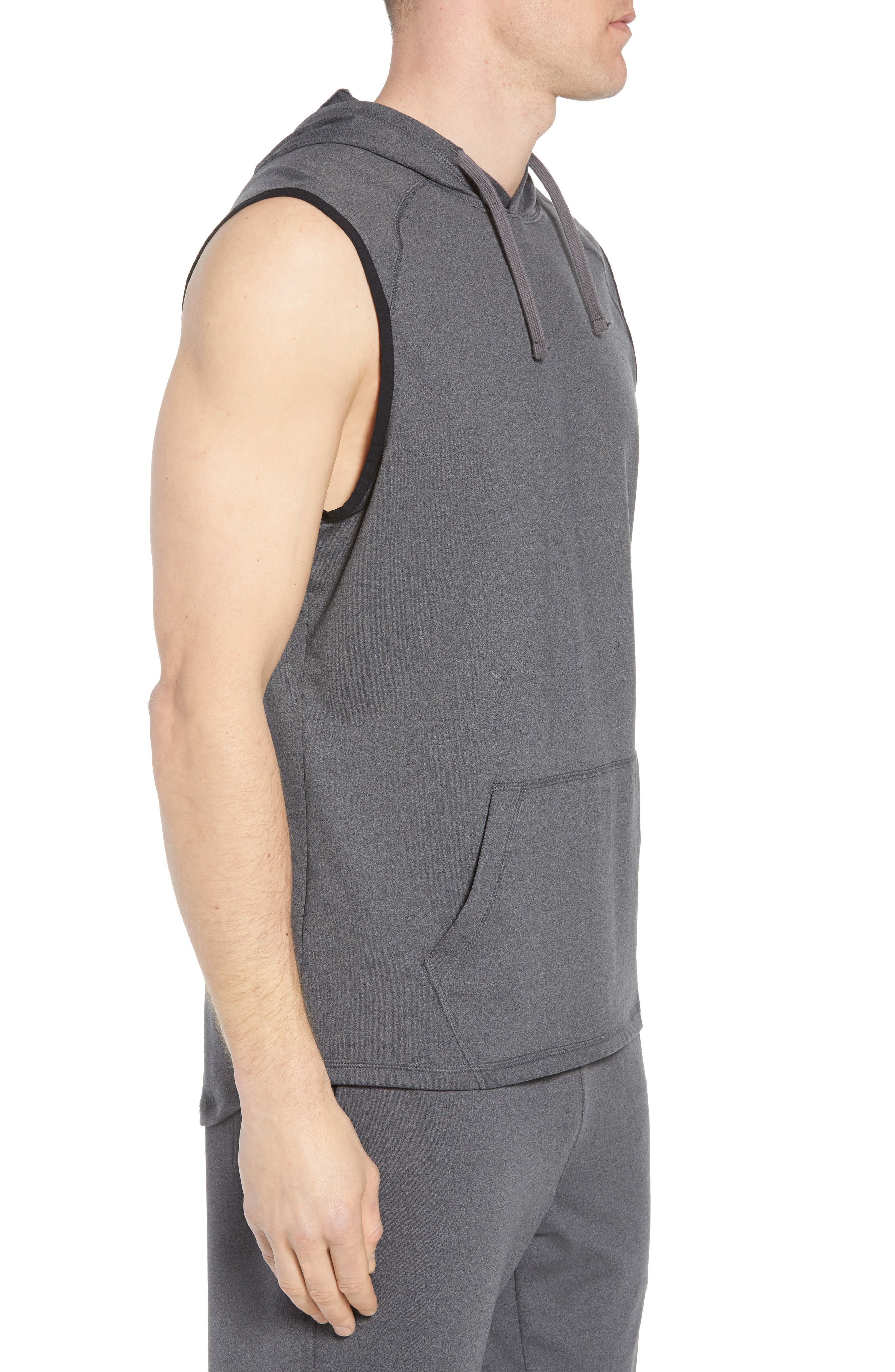 Active Sleeveless Hoodie,                             Alternate thumbnail 3, color,                             021