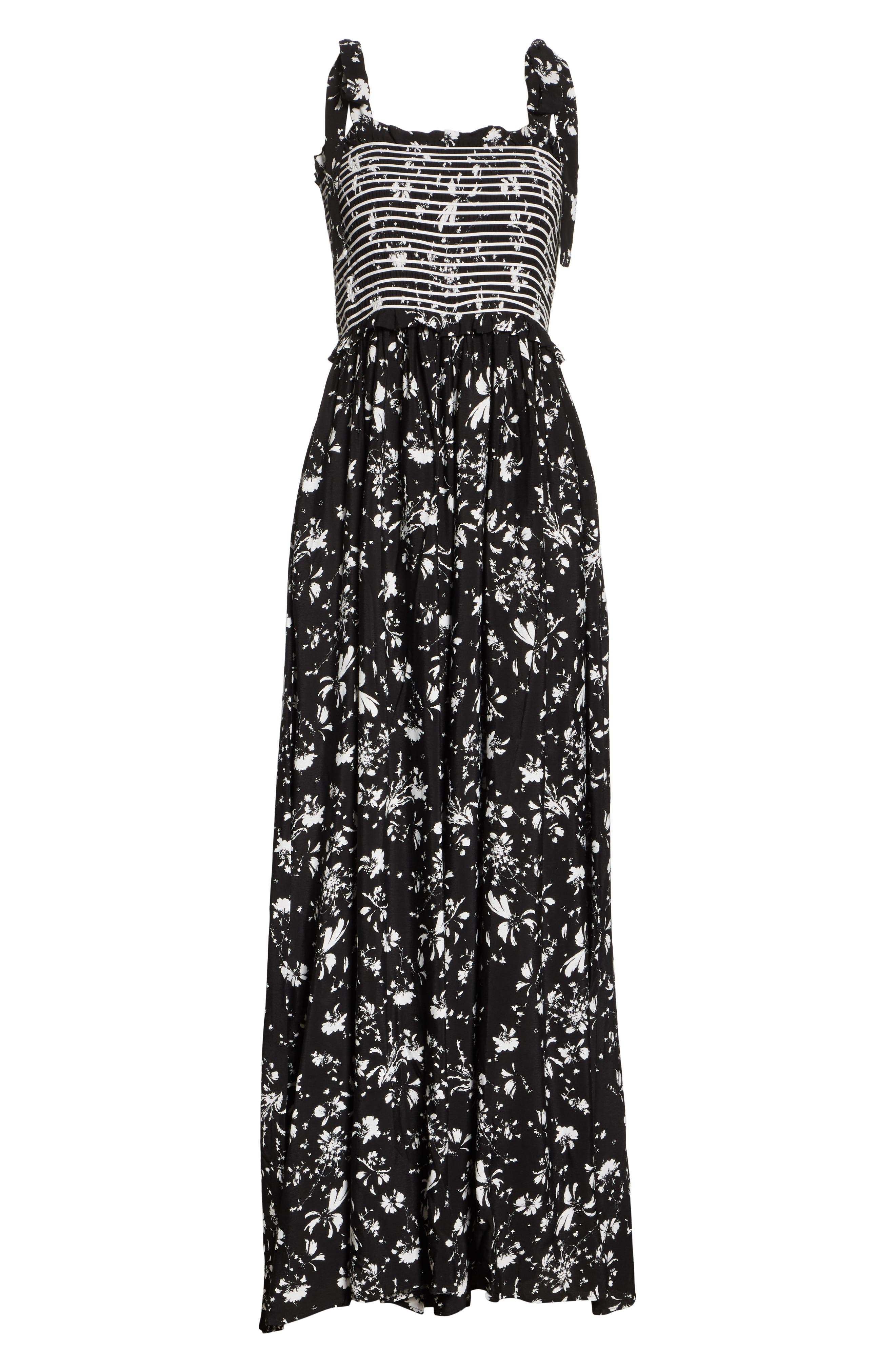 FREE PEOPLE,                             Color My World Floral Jumpsuit,                             Alternate thumbnail 8, color,                             001