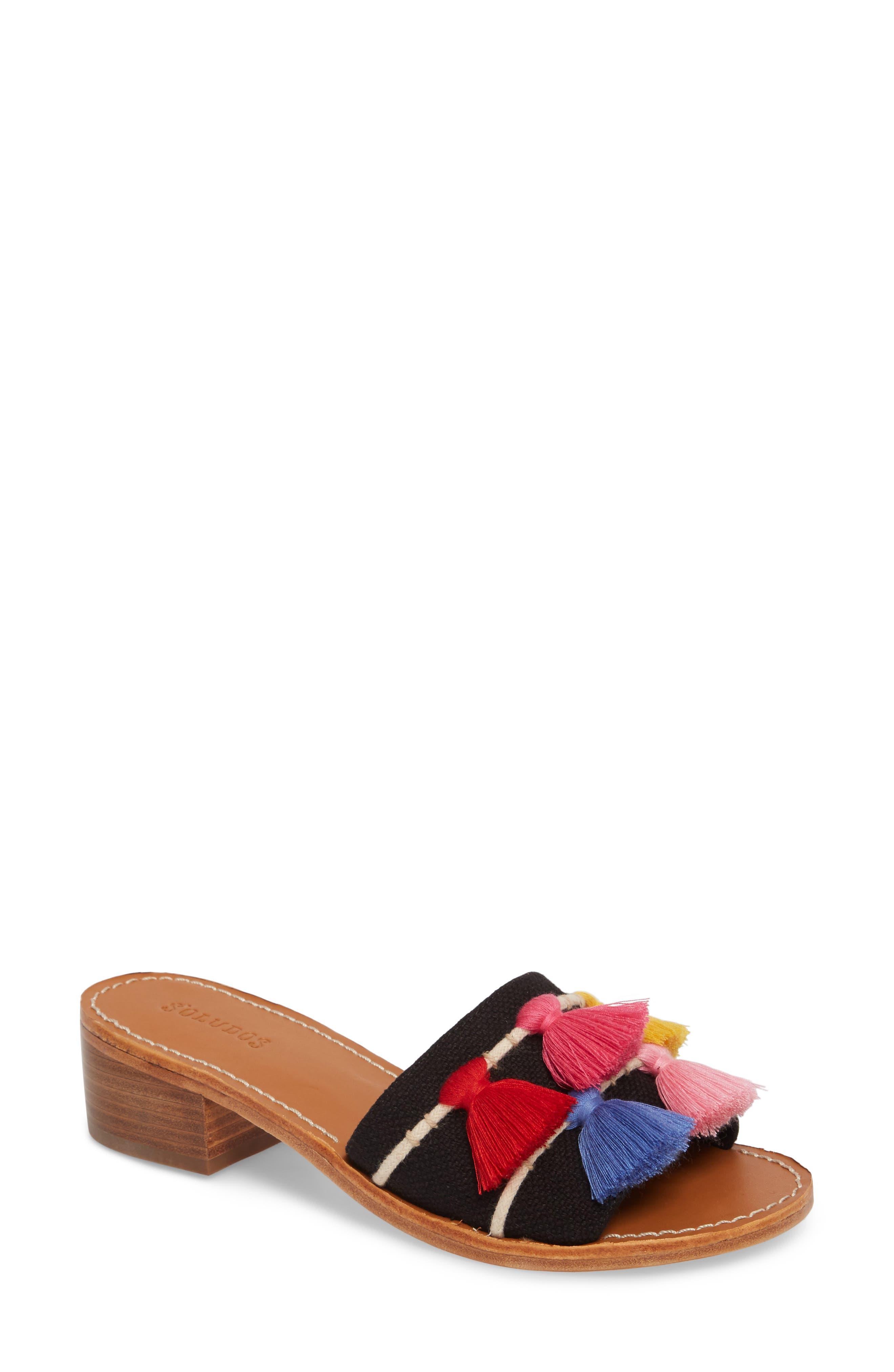 Tassel City Sandal,                         Main,                         color, 001