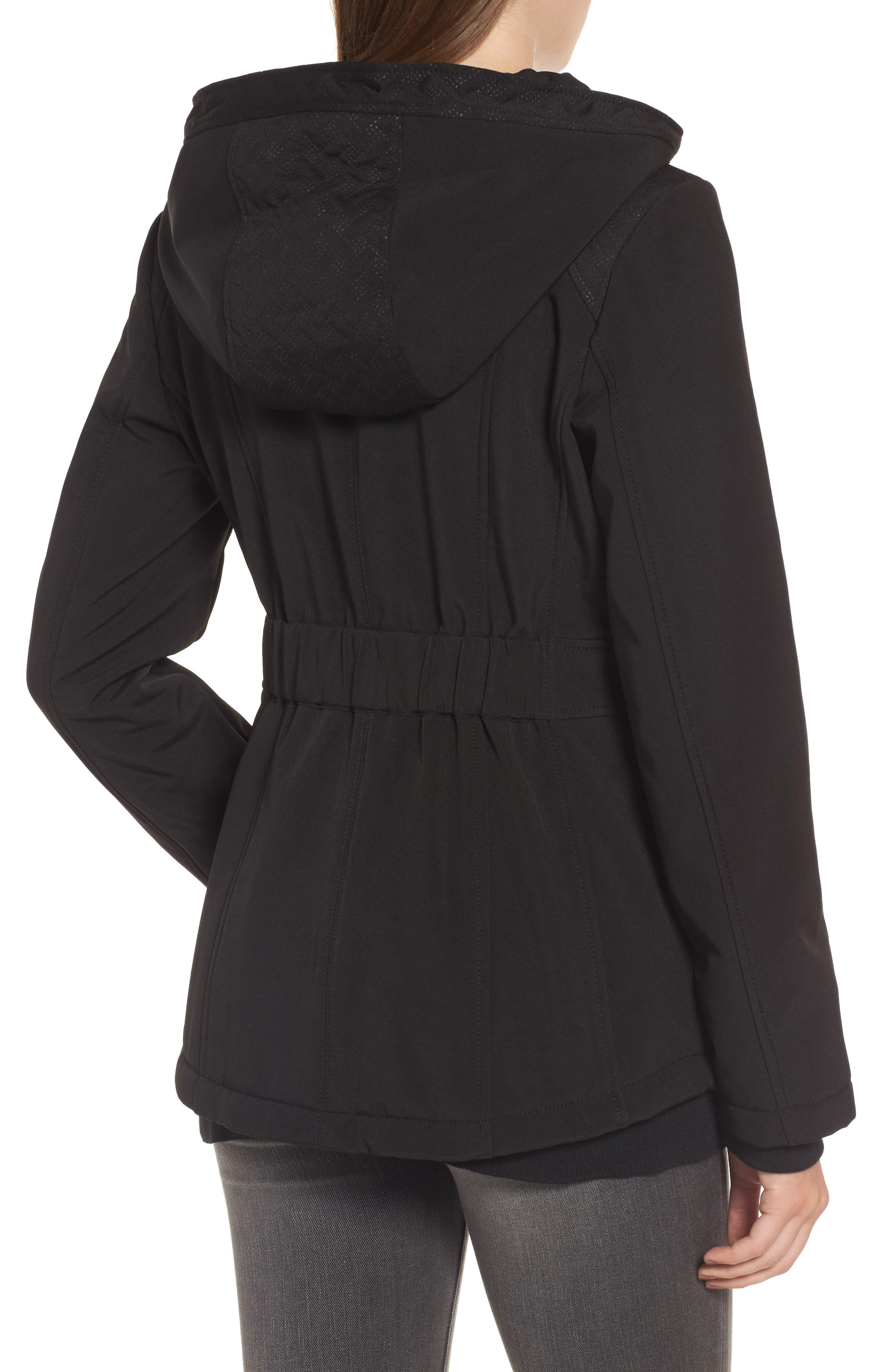 Asymmetrical Soft Shell Coat,                             Alternate thumbnail 2, color,                             001