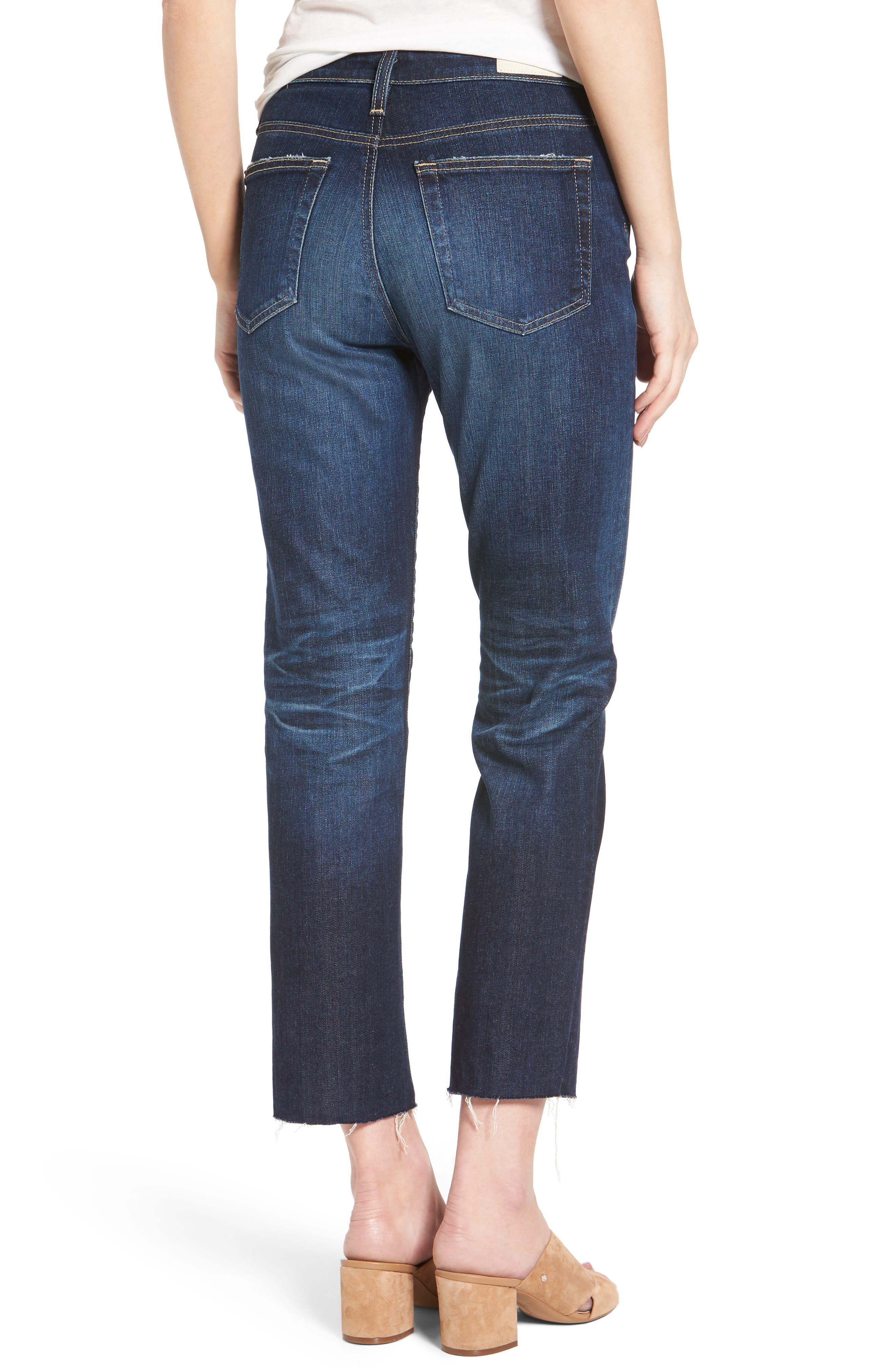 The Isabelle Crop Straight Leg Jeans,                             Alternate thumbnail 2, color,                             466