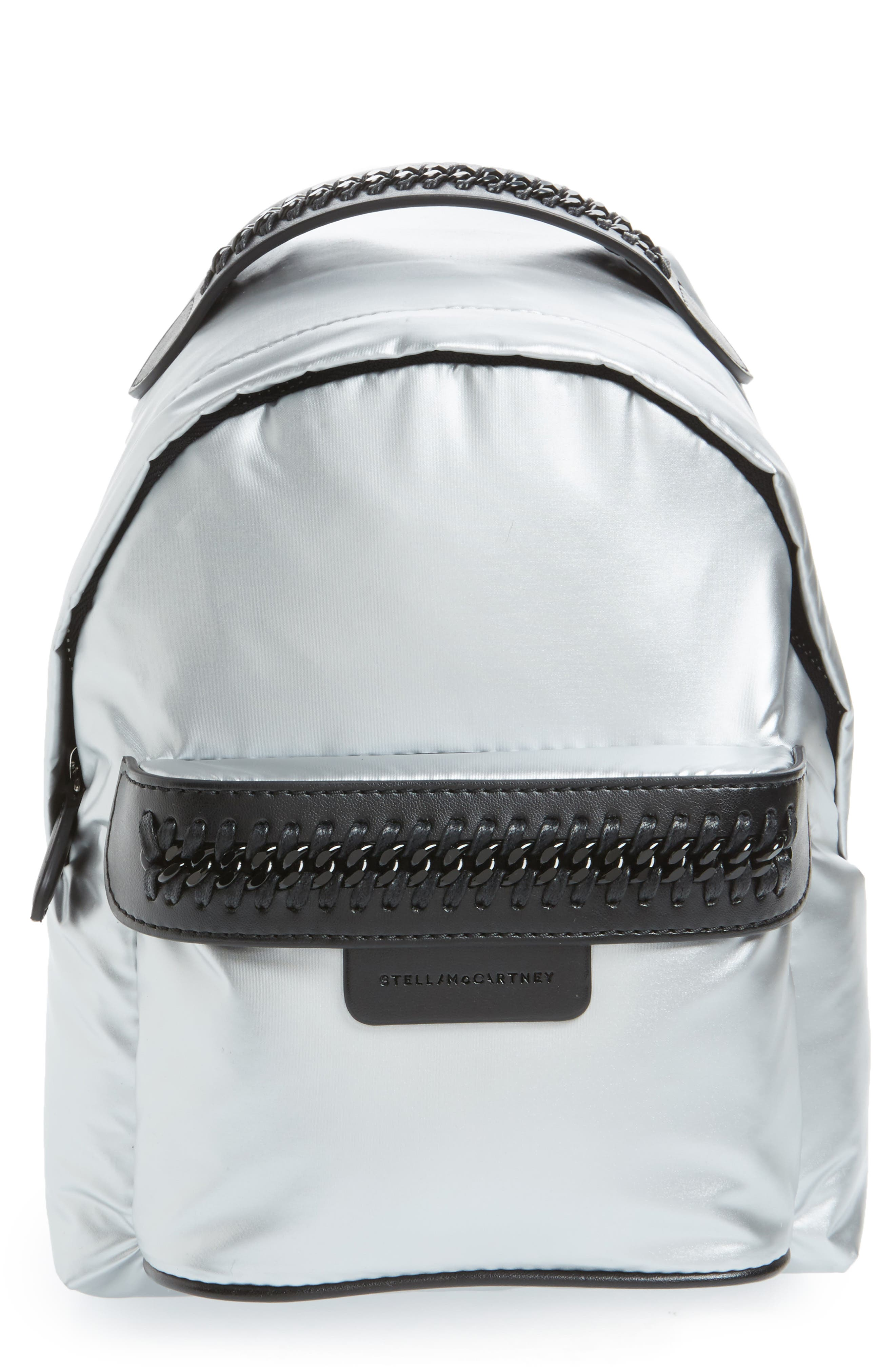 Mini Metallic Nylon Backpack,                         Main,                         color, 045