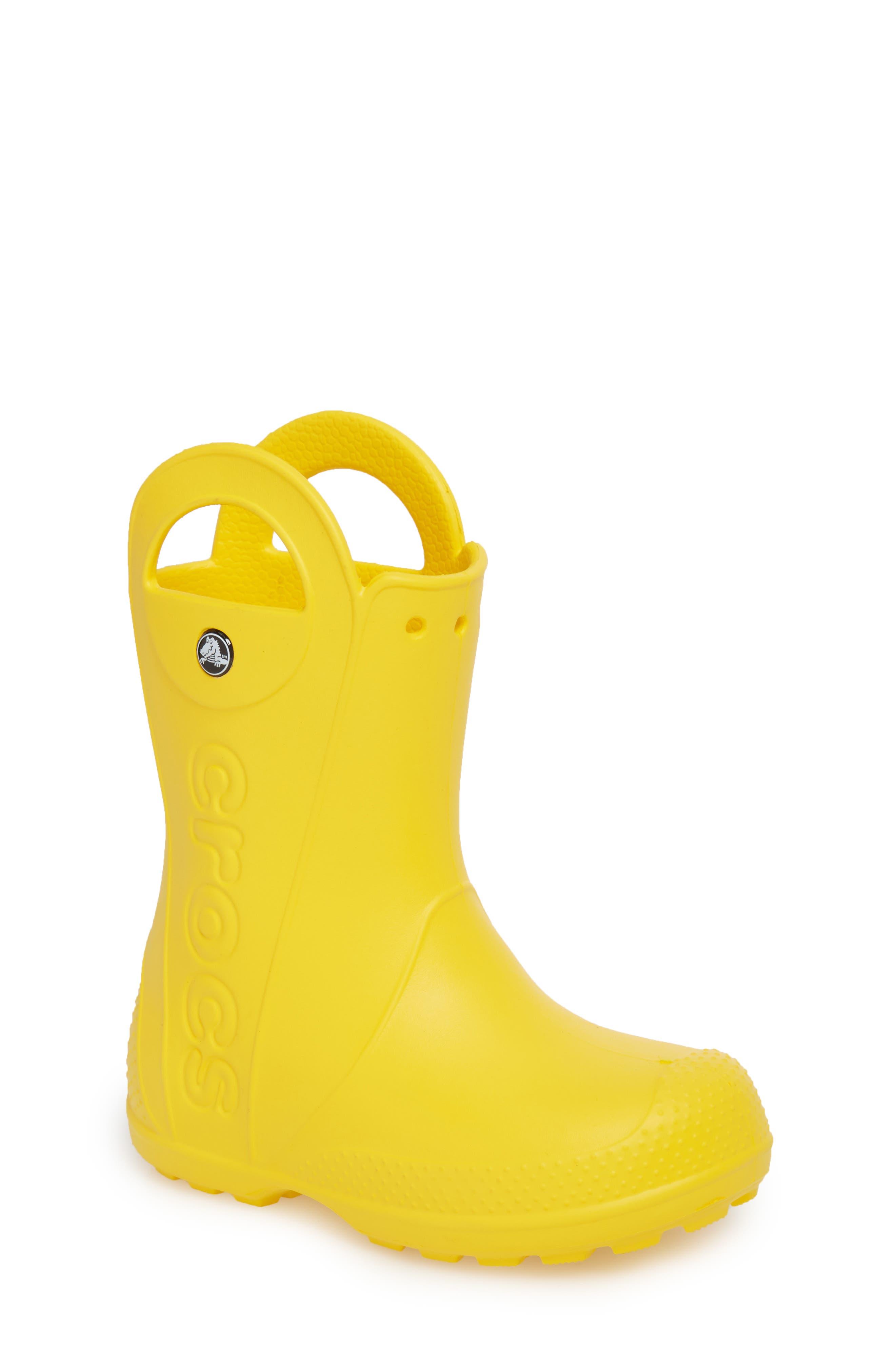 Handle It Rain Boot,                             Main thumbnail 1, color,                             YELLOW
