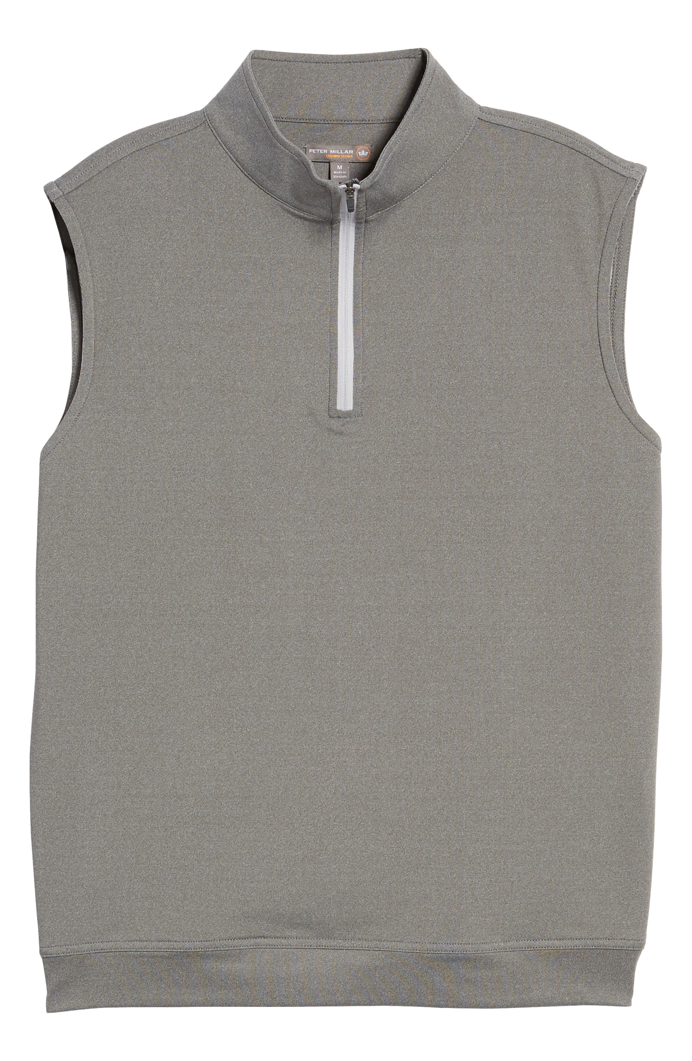 Galway Stretch Terry Quarter Zip Vest,                             Alternate thumbnail 5, color,                             025