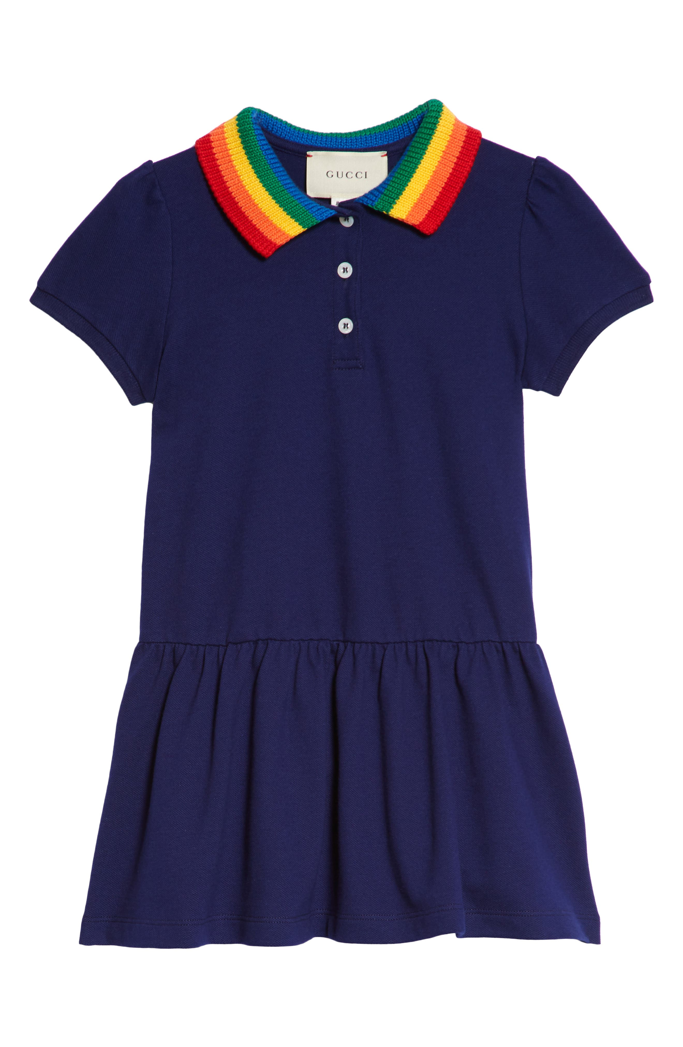 Polo Dress,                         Main,                         color, BLUE MULTI