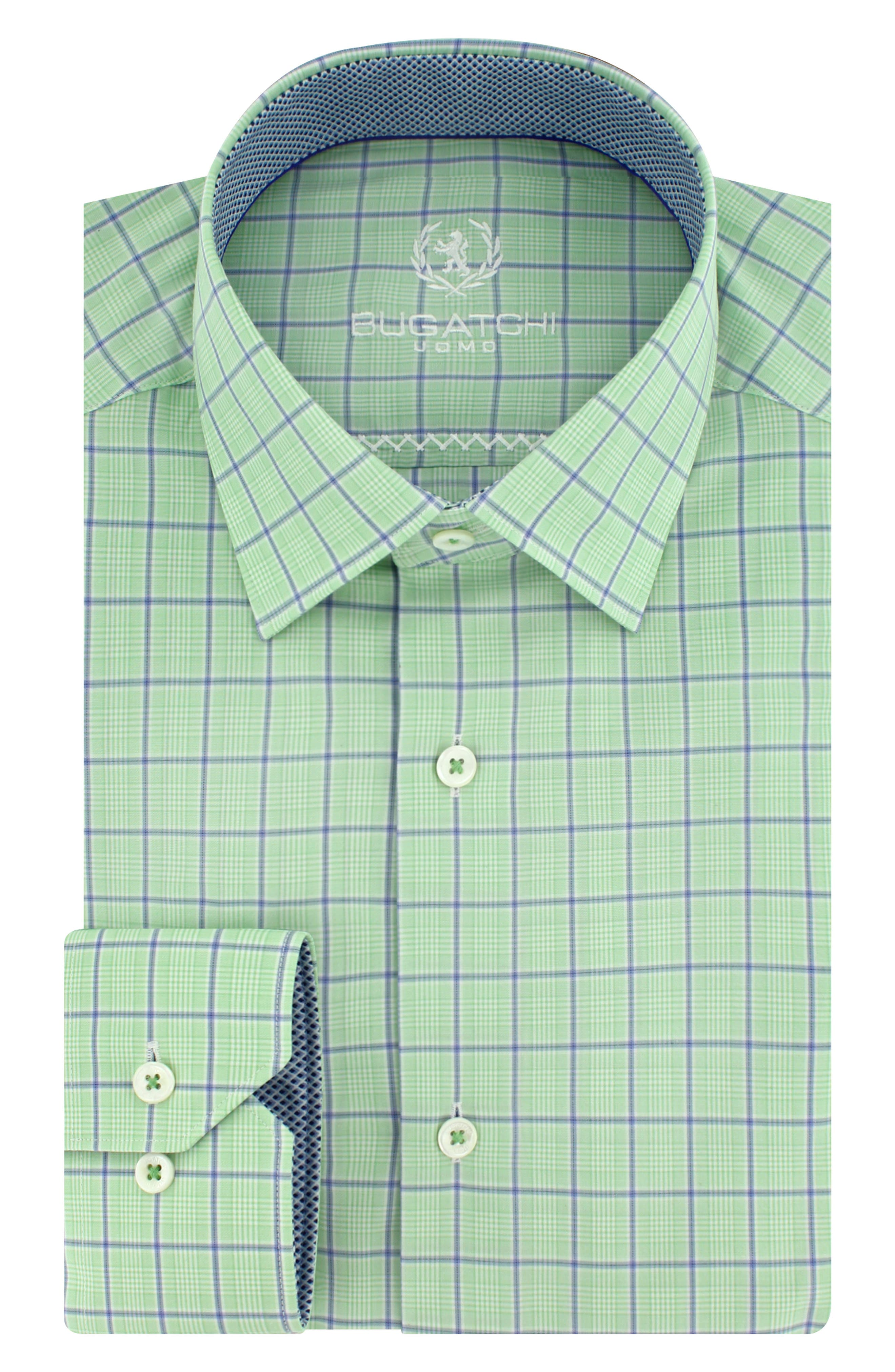 Trim Fit Plaid Dress Shirt,                             Main thumbnail 1, color,                             329