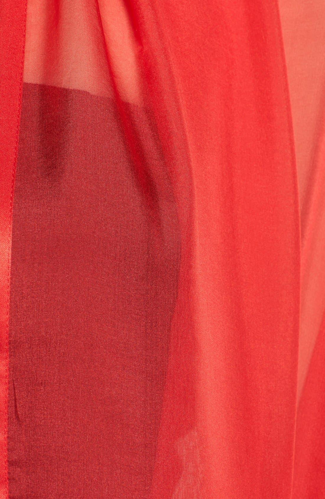 Satin Border Silk Wrap,                             Alternate thumbnail 46, color,