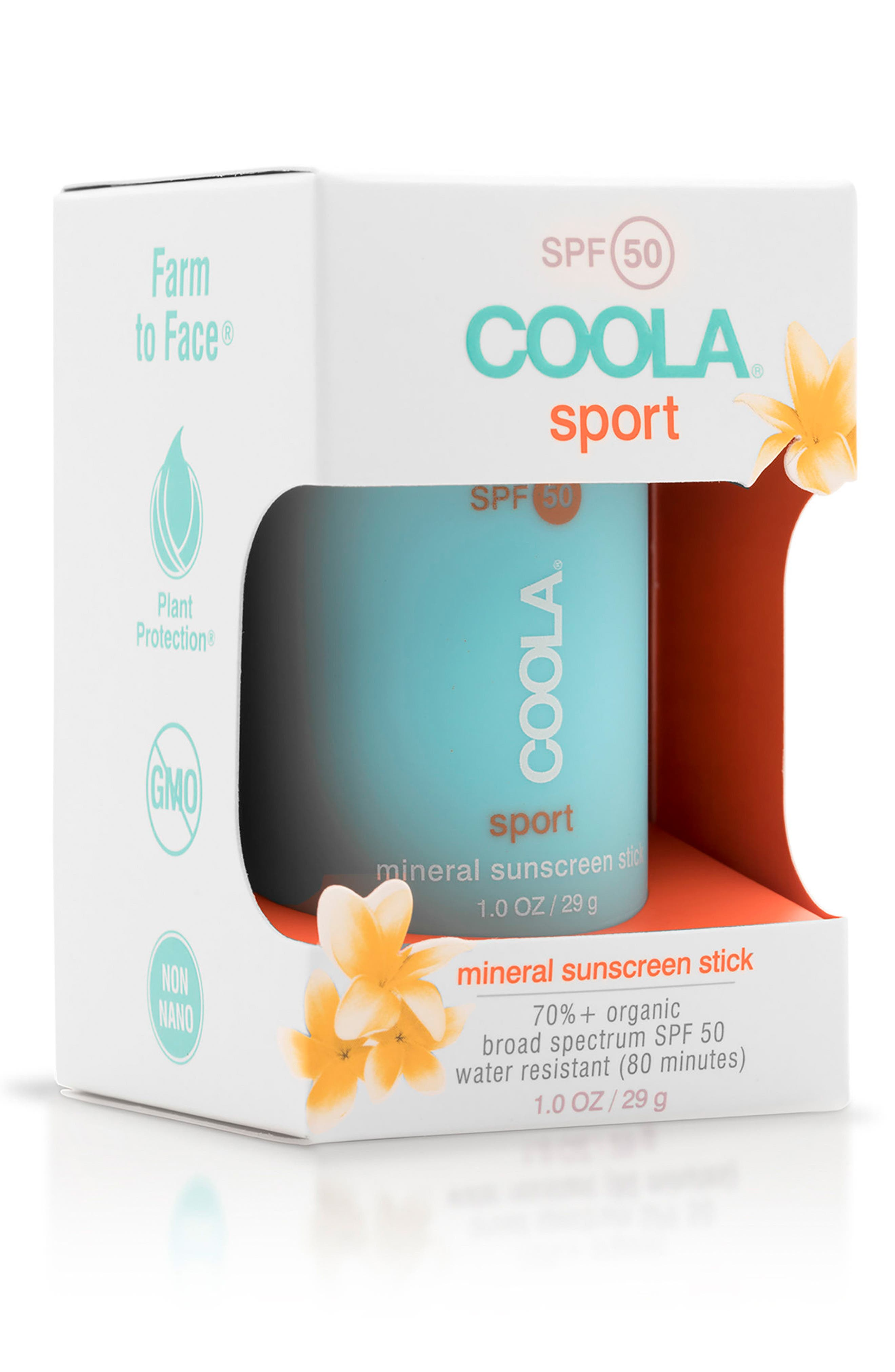 COOLA<sup>®</sup> Suncare Mineral Sport Sunscreen Stick SPF 50,                             Alternate thumbnail 2, color,                             CLEAR