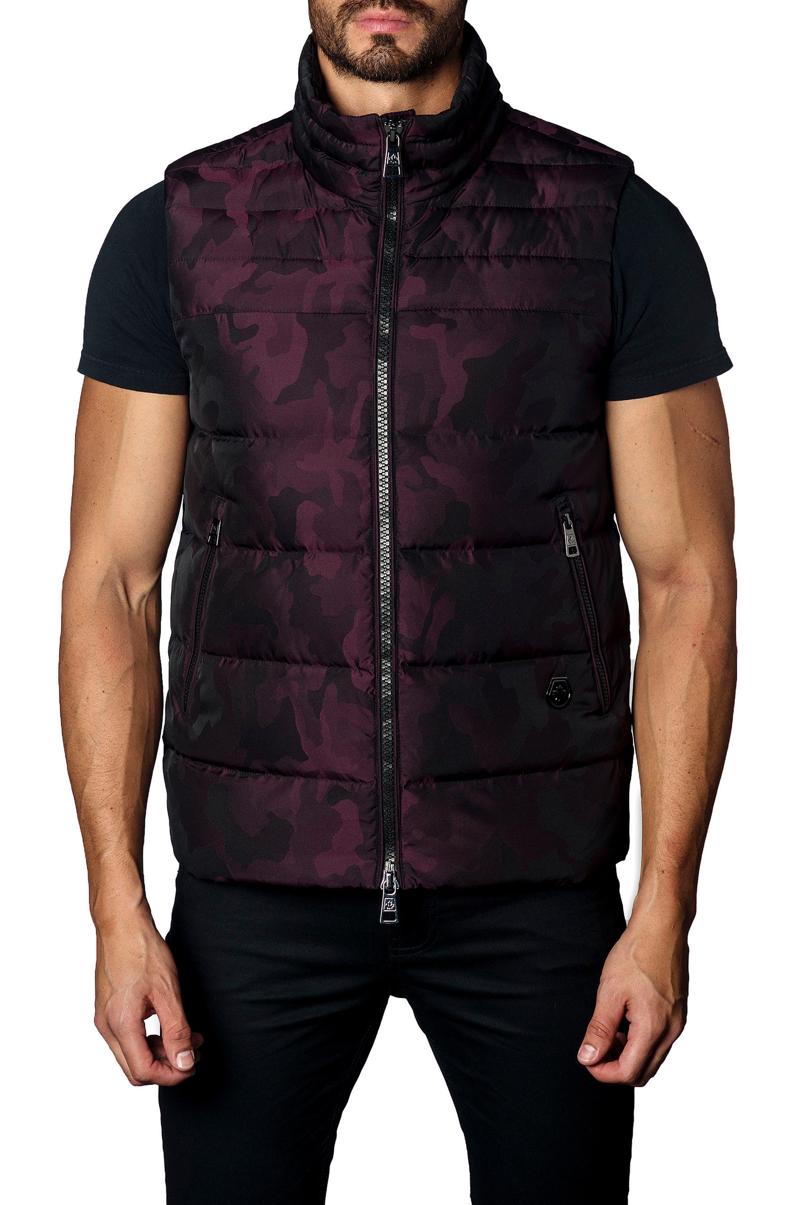 Camo Down Puffer Vest,                             Main thumbnail 4, color,