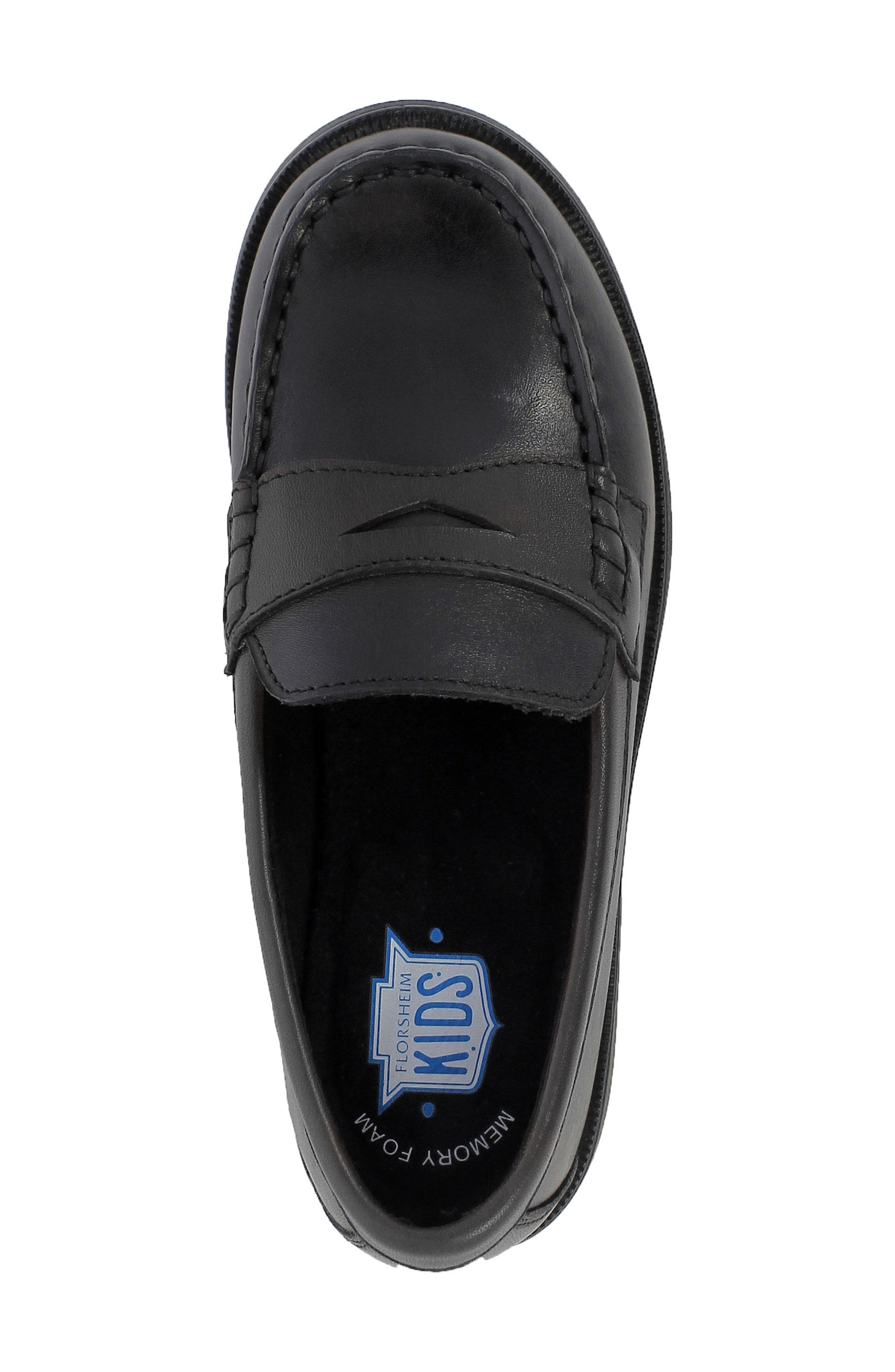 'Croquet' Penny Loafer,                             Alternate thumbnail 5, color,                             BLACK