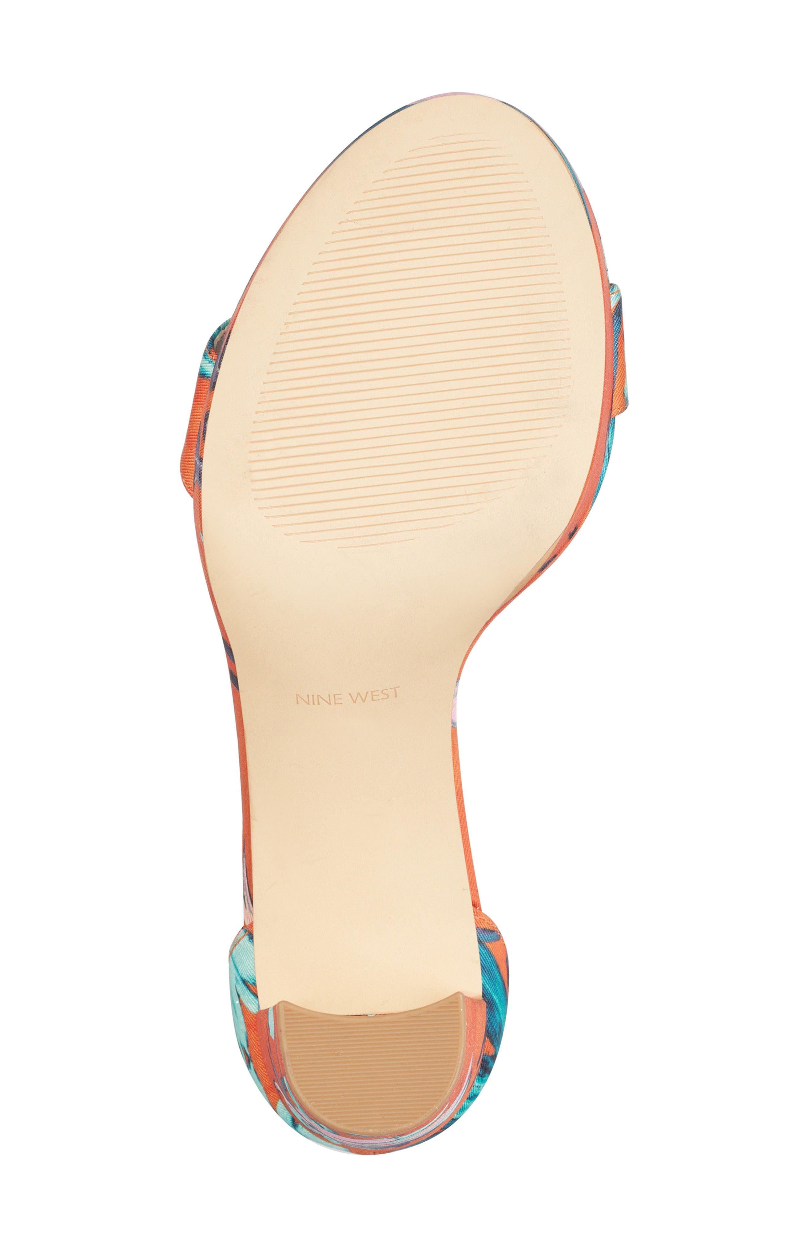 Dempsey Platform Sandal,                             Alternate thumbnail 6, color,                             ORANGE MULTI FABRIC