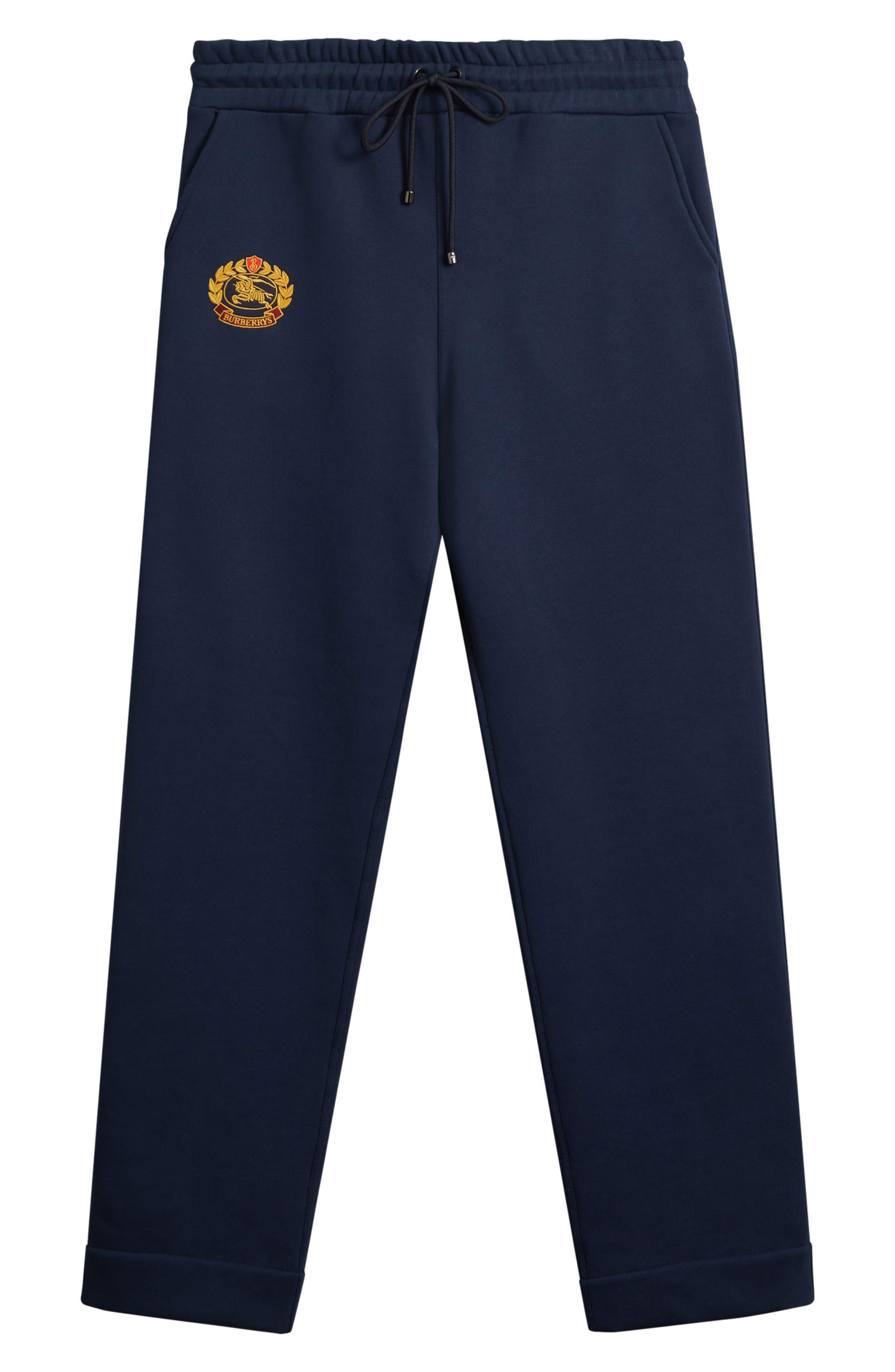 Vintage Crest Sweatpants,                             Alternate thumbnail 4, color,                             MIDNIGHT BLUE
