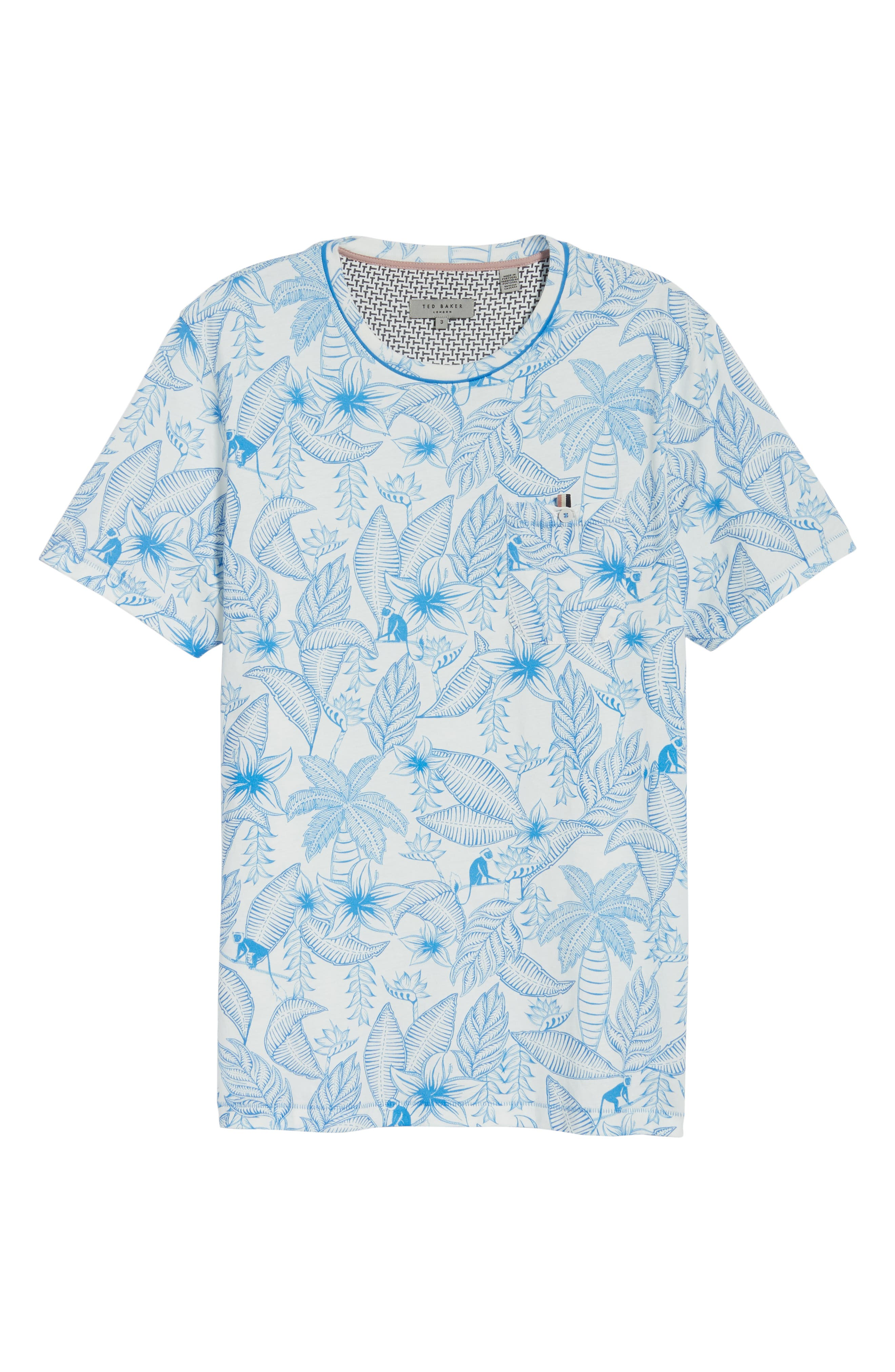 Bengel Crewneck T-Shirt,                             Alternate thumbnail 6, color,                             BRIGHT BLUE