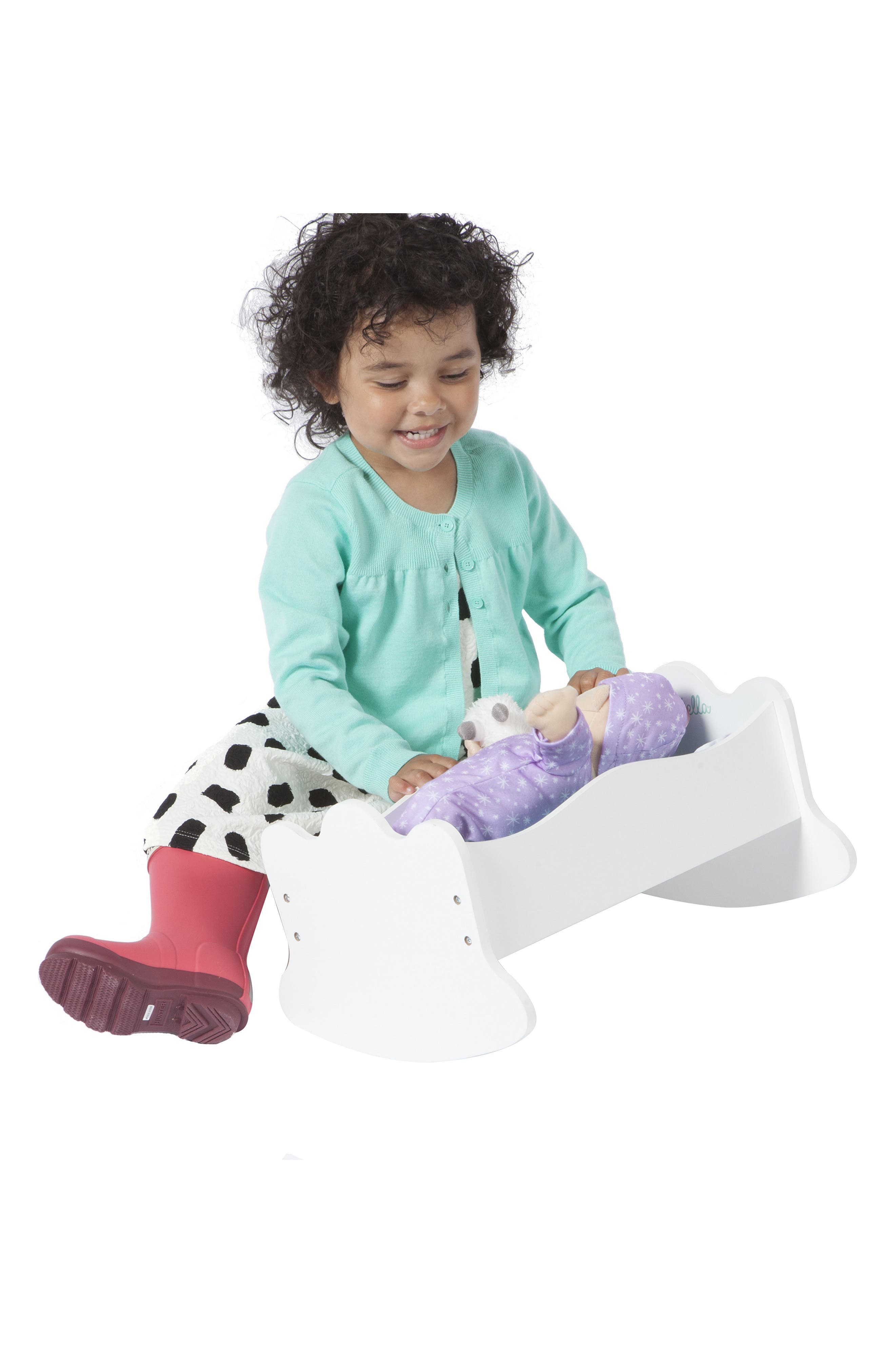 Mahattan Toy Baby Stella Wooden Rock-a-Bye Doll Cradle,                             Alternate thumbnail 4, color,                             100