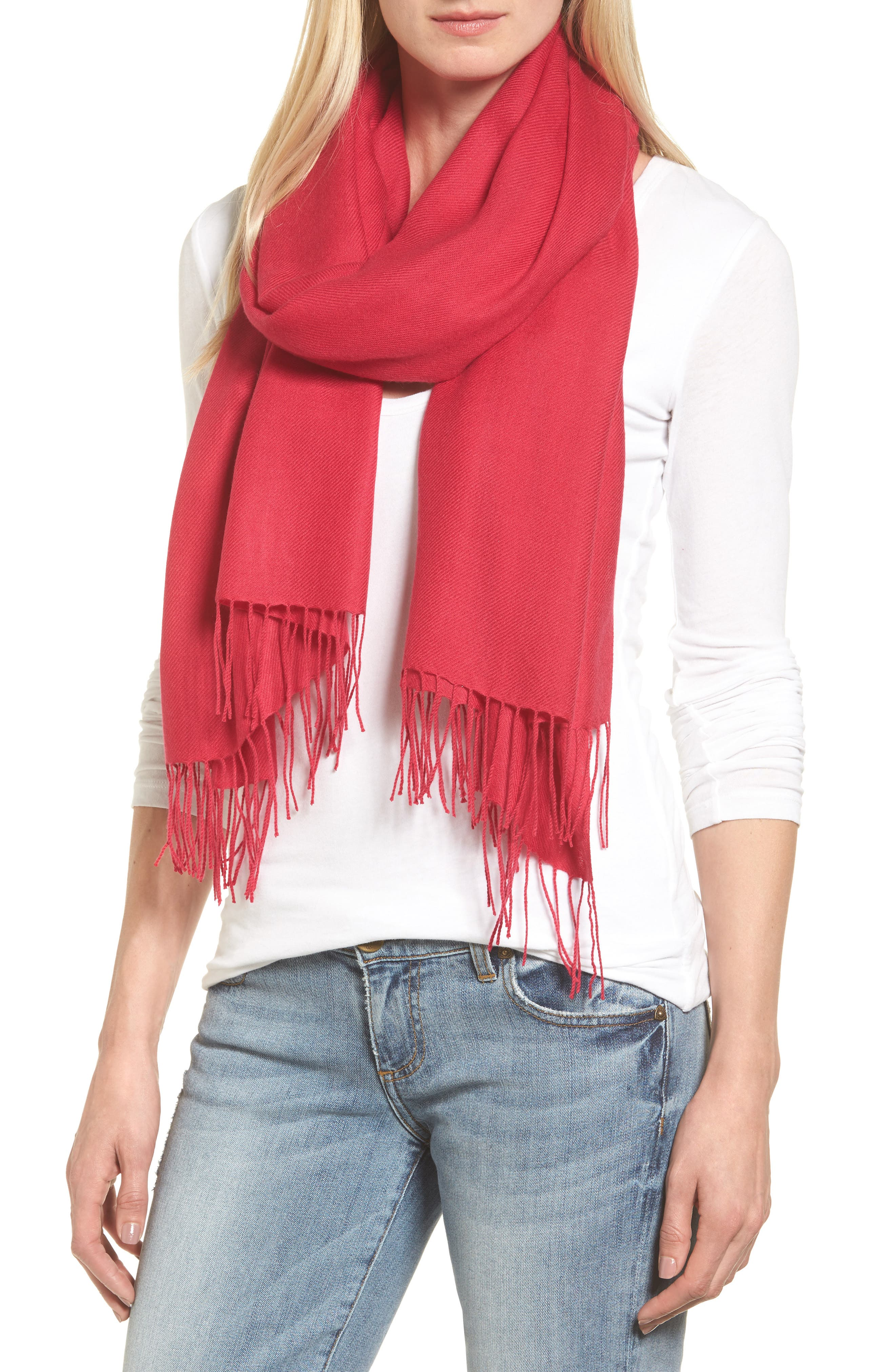 Tissue Weight Wool & Cashmere Scarf,                             Main thumbnail 58, color,
