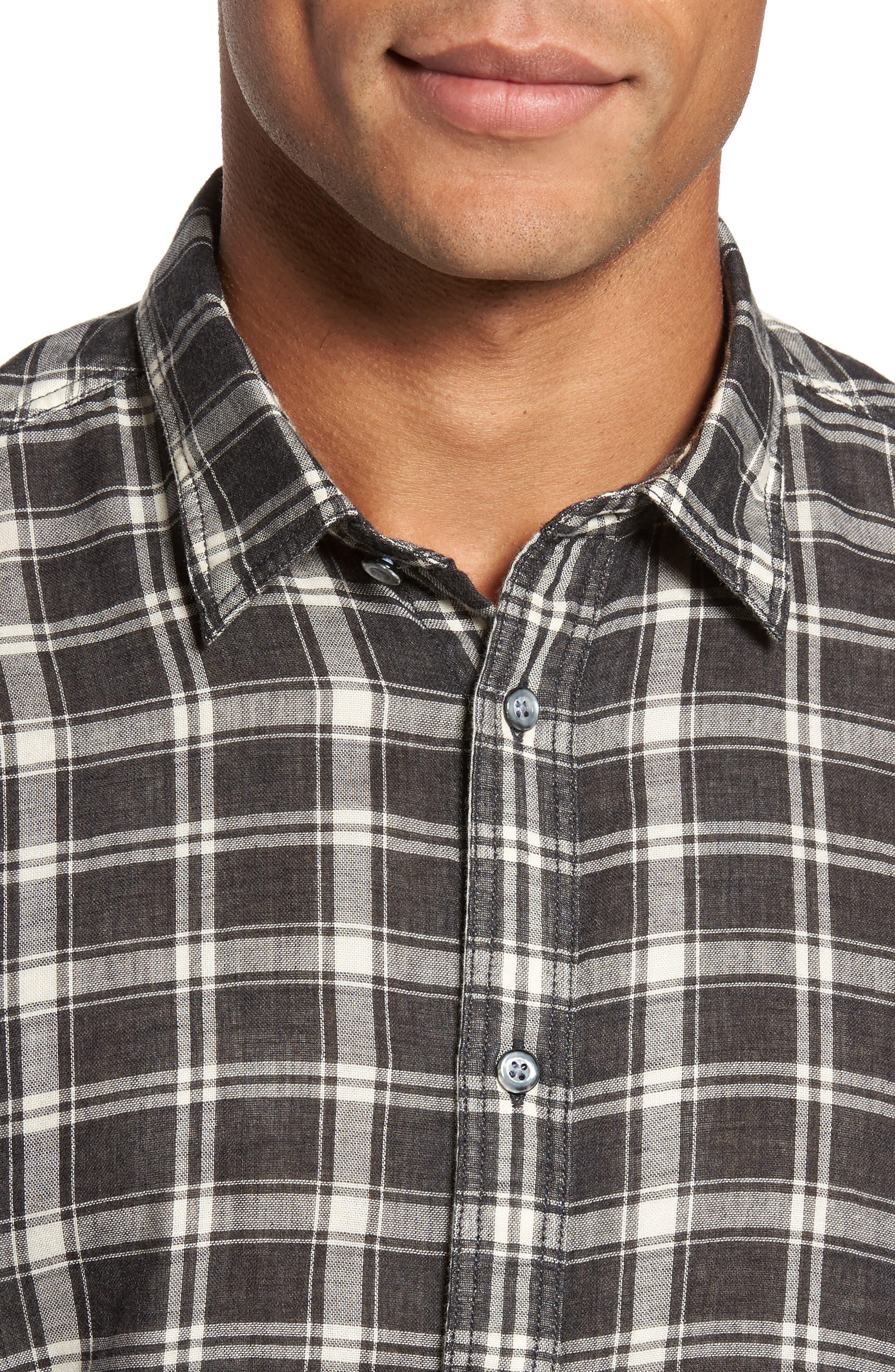 Hansen Regular Fit Plaid Sport Shirt,                             Alternate thumbnail 4, color,                             010