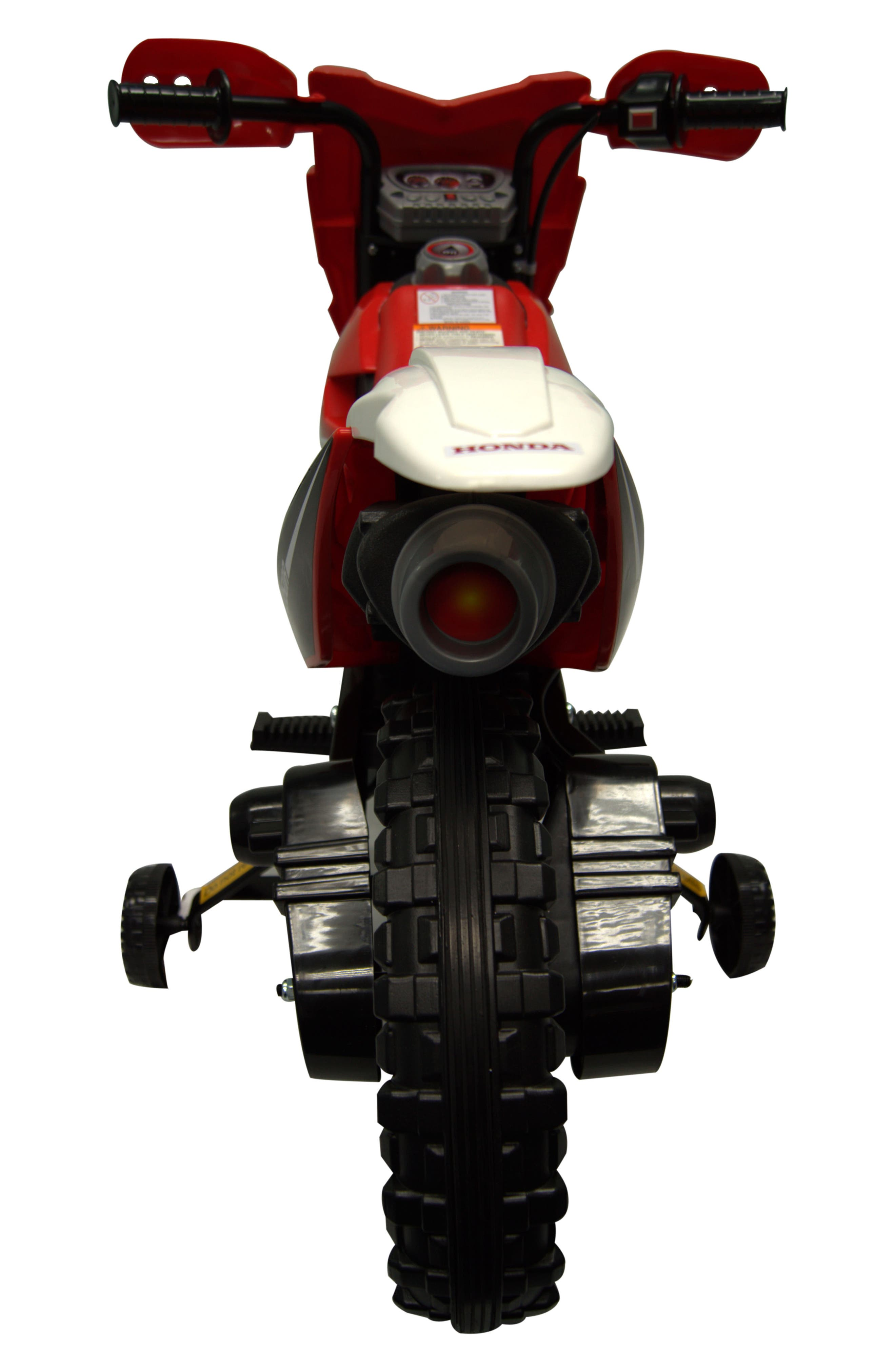 Honda Dirt Bike Ride-On Toy Motorcycle,                             Alternate thumbnail 2, color,                             RED