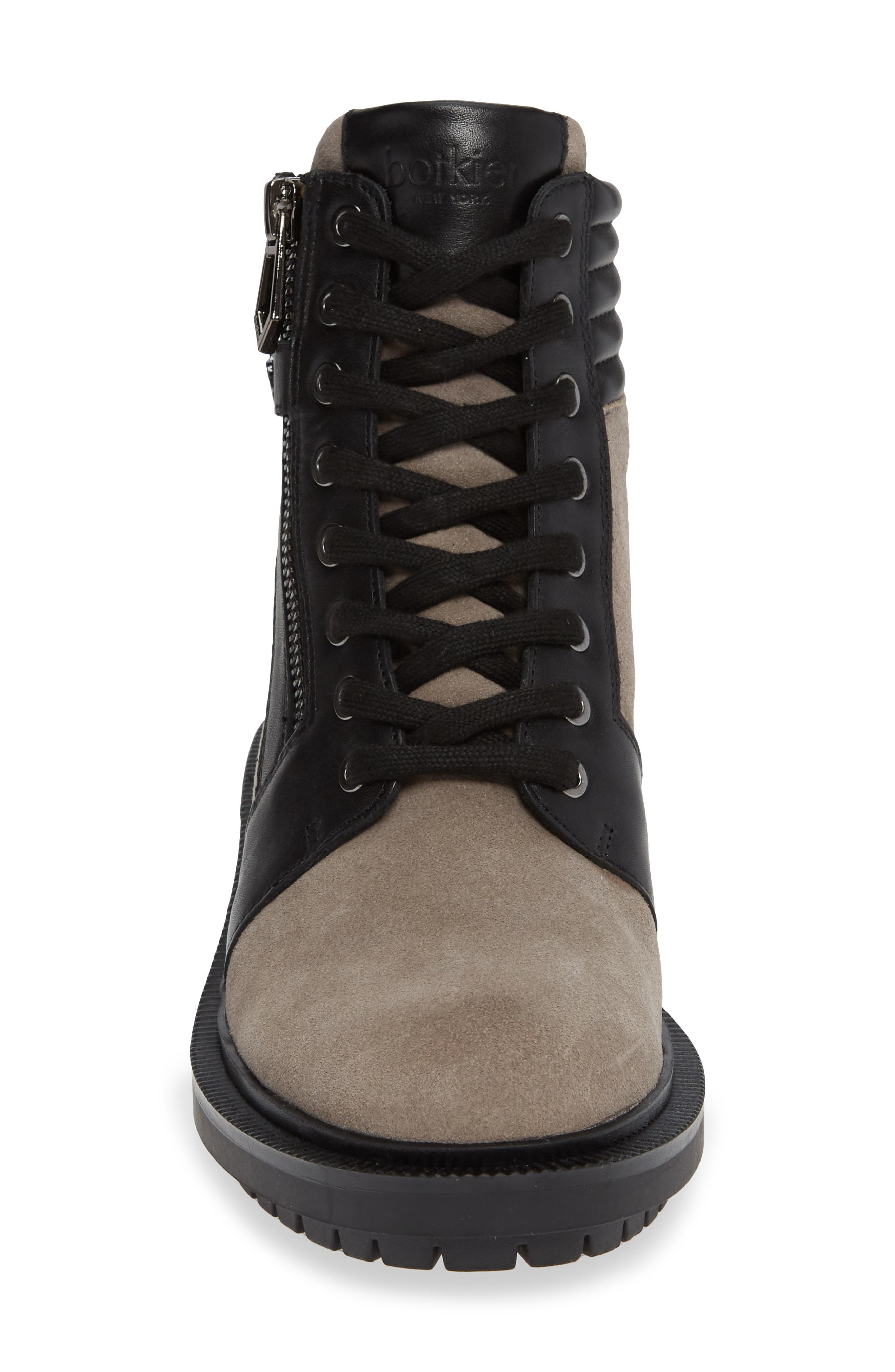 Moto Boot,                             Alternate thumbnail 4, color,                             WINTER GREY SUEDE