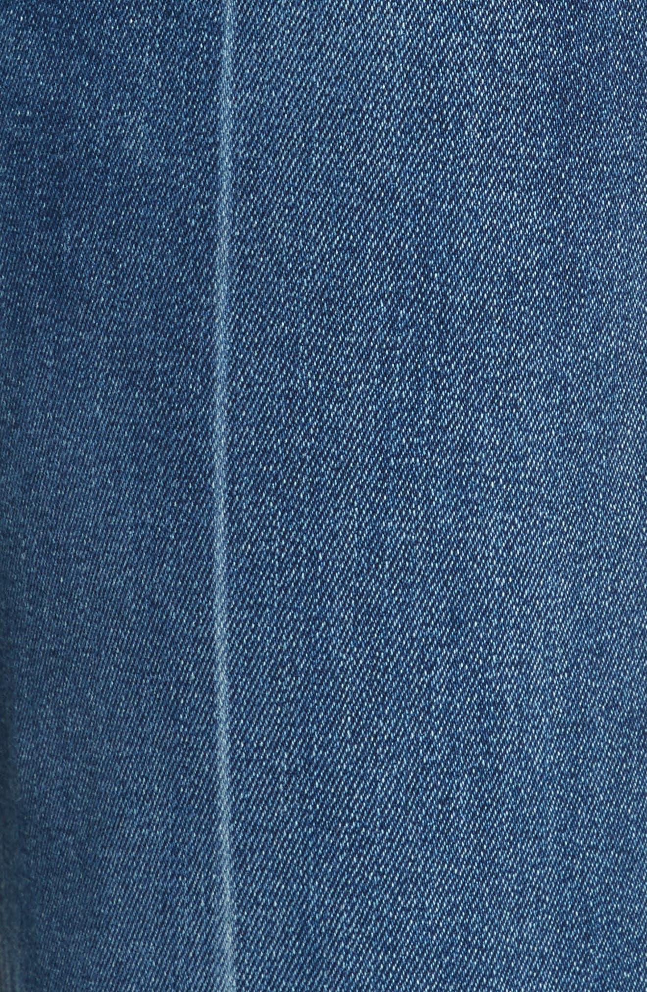 Justine High Waist Trouser Jeans,                             Alternate thumbnail 5, color,                             462