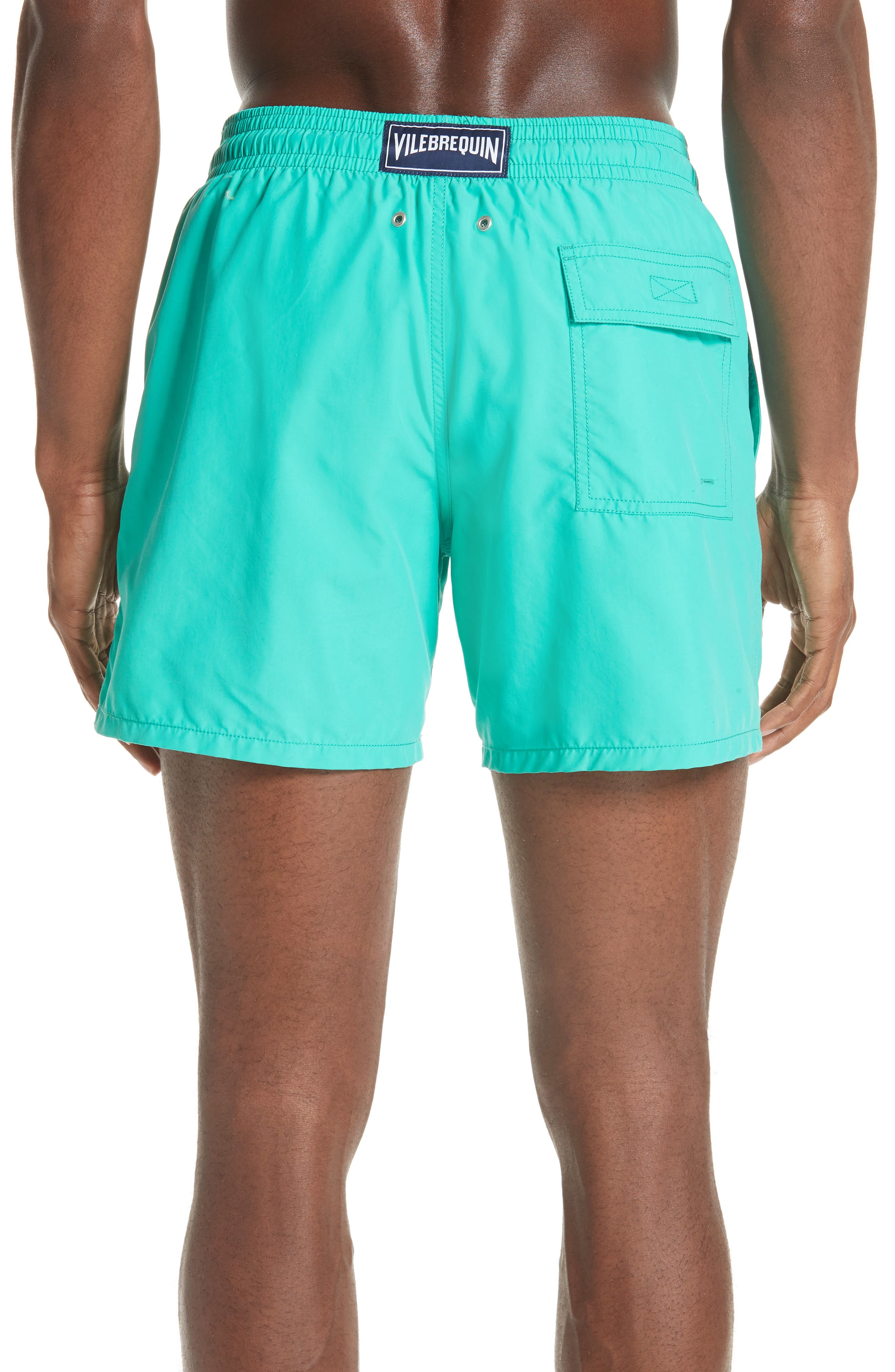 Hypnotique Turtles Water Reactive Swim Trunks,                             Alternate thumbnail 2, color,                             VERONESE GREEN
