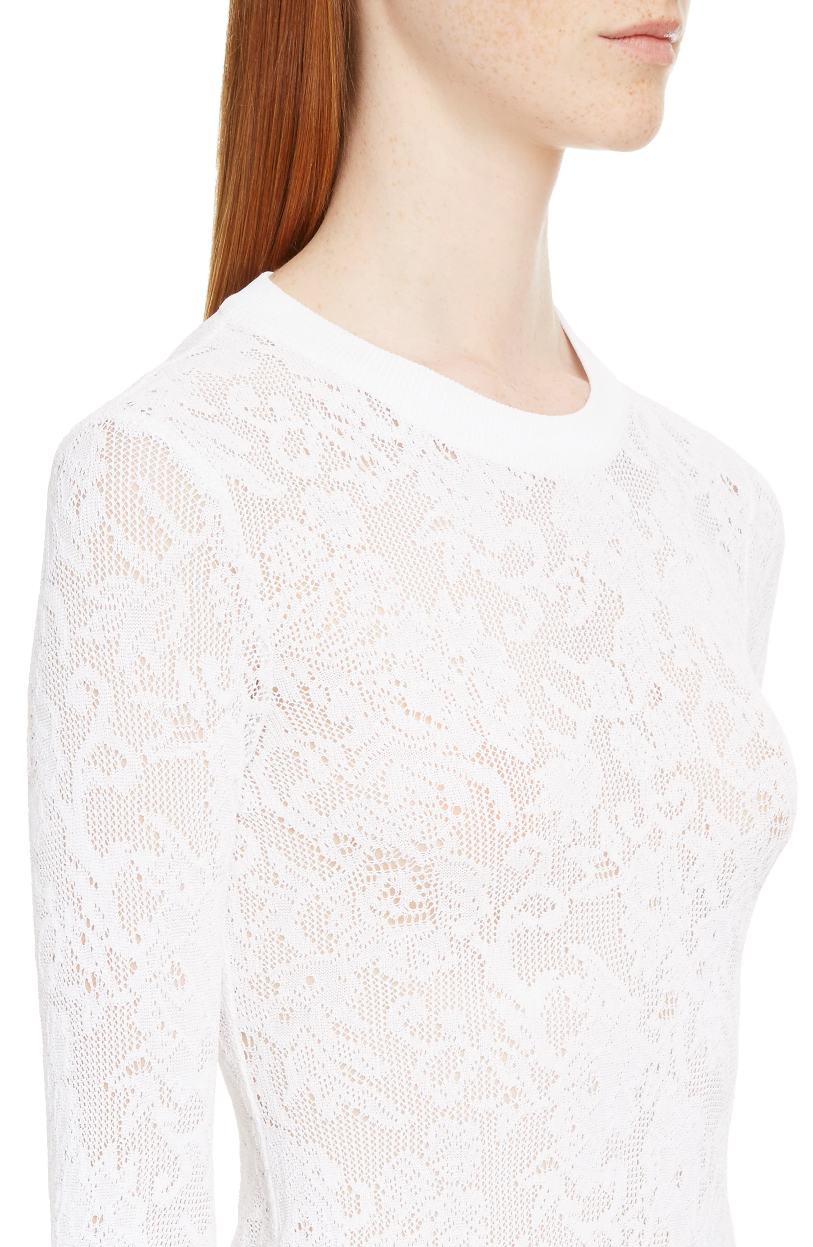 Lace Effect Pullover,                             Alternate thumbnail 4, color,