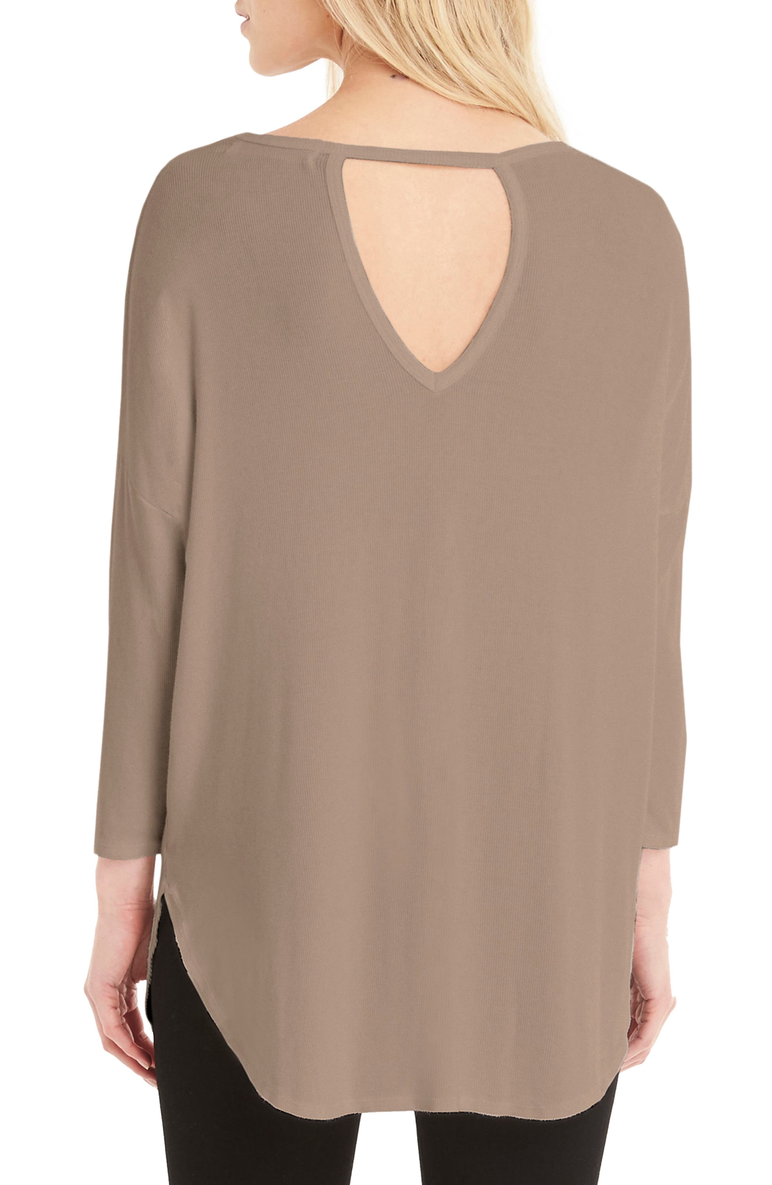 Stretch Knit Tee,                             Alternate thumbnail 4, color,