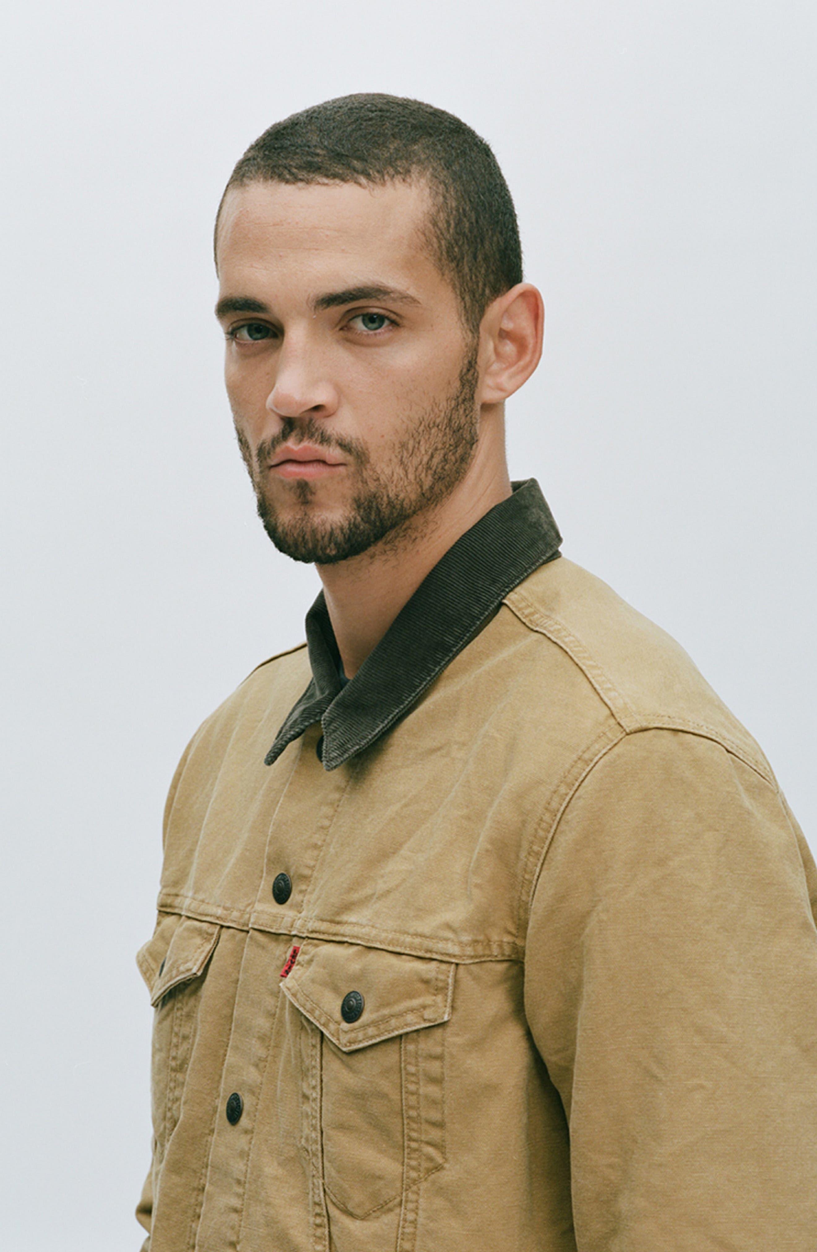 x Justin Timberlake Canvas Trucker Jacket,                             Alternate thumbnail 2, color,                             DIJON